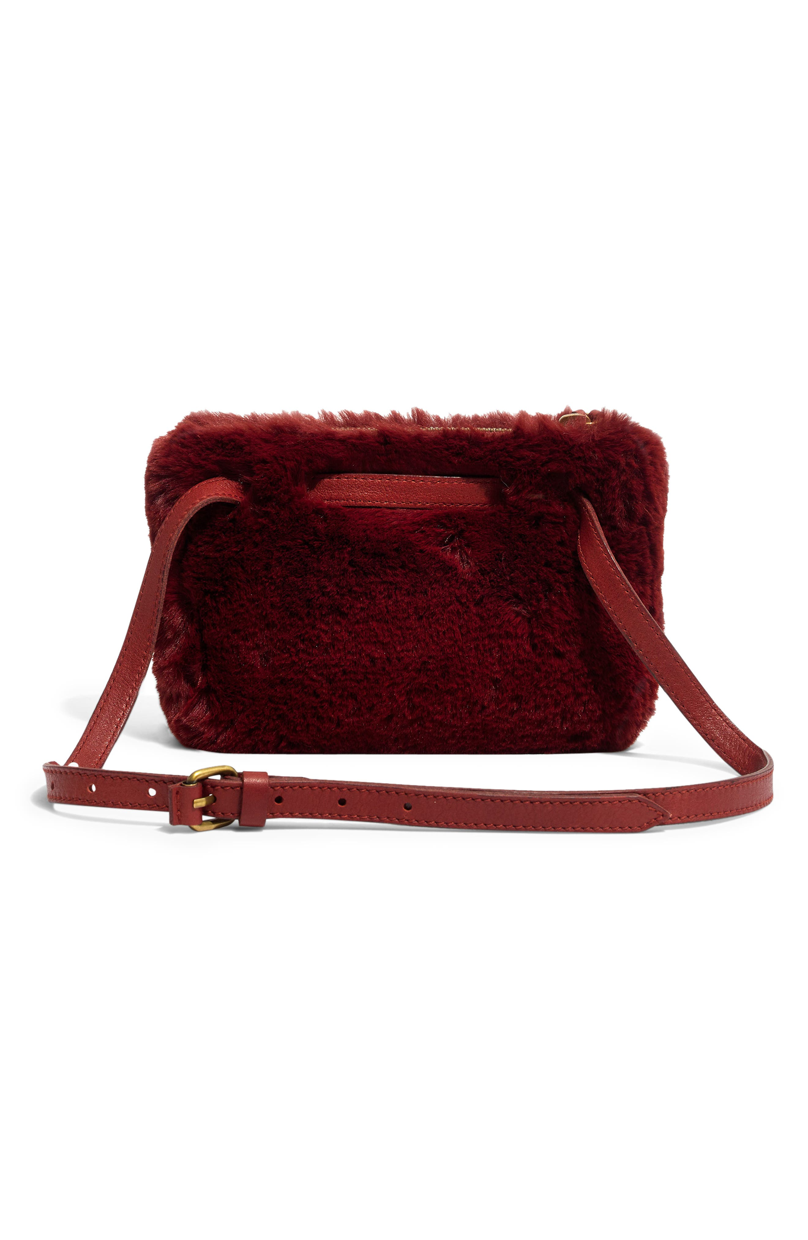 MADEWELL,                             The Simple Pouch Faux Fur Belt Bag,                             Alternate thumbnail 2, color,                             600