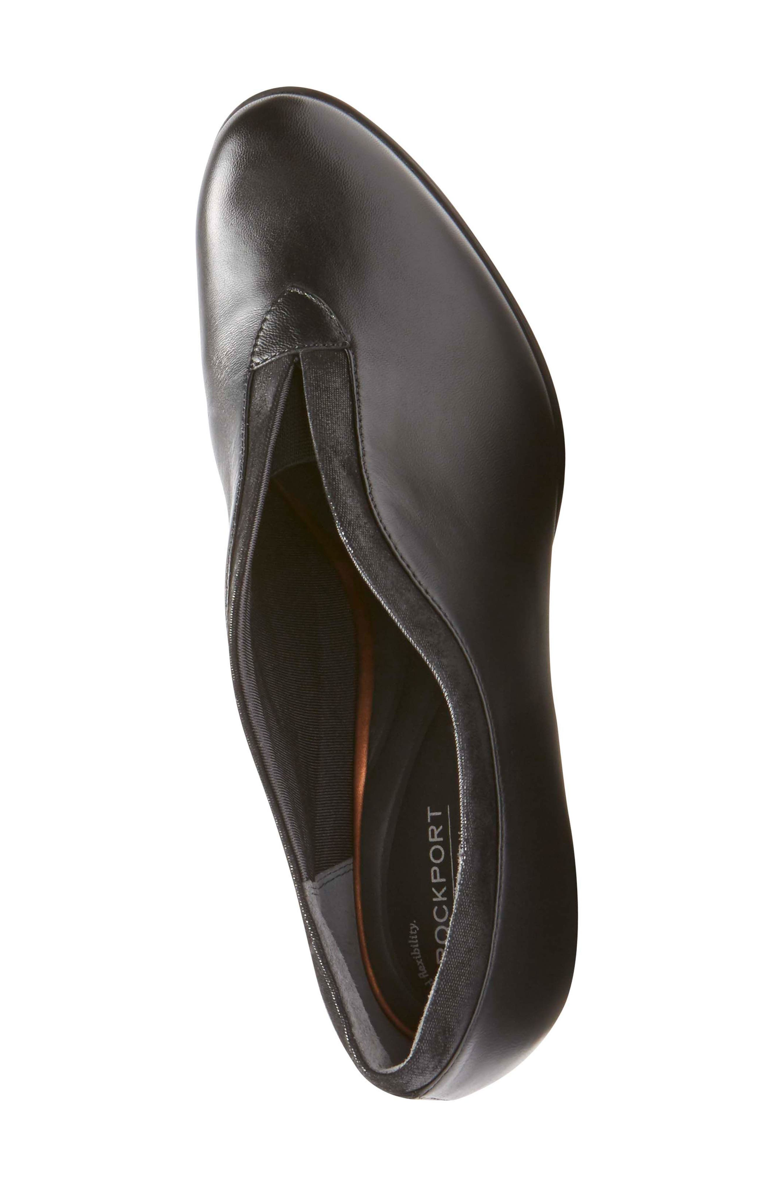 Esty Luxe Pump,                             Alternate thumbnail 5, color,                             BLACK LEATHER