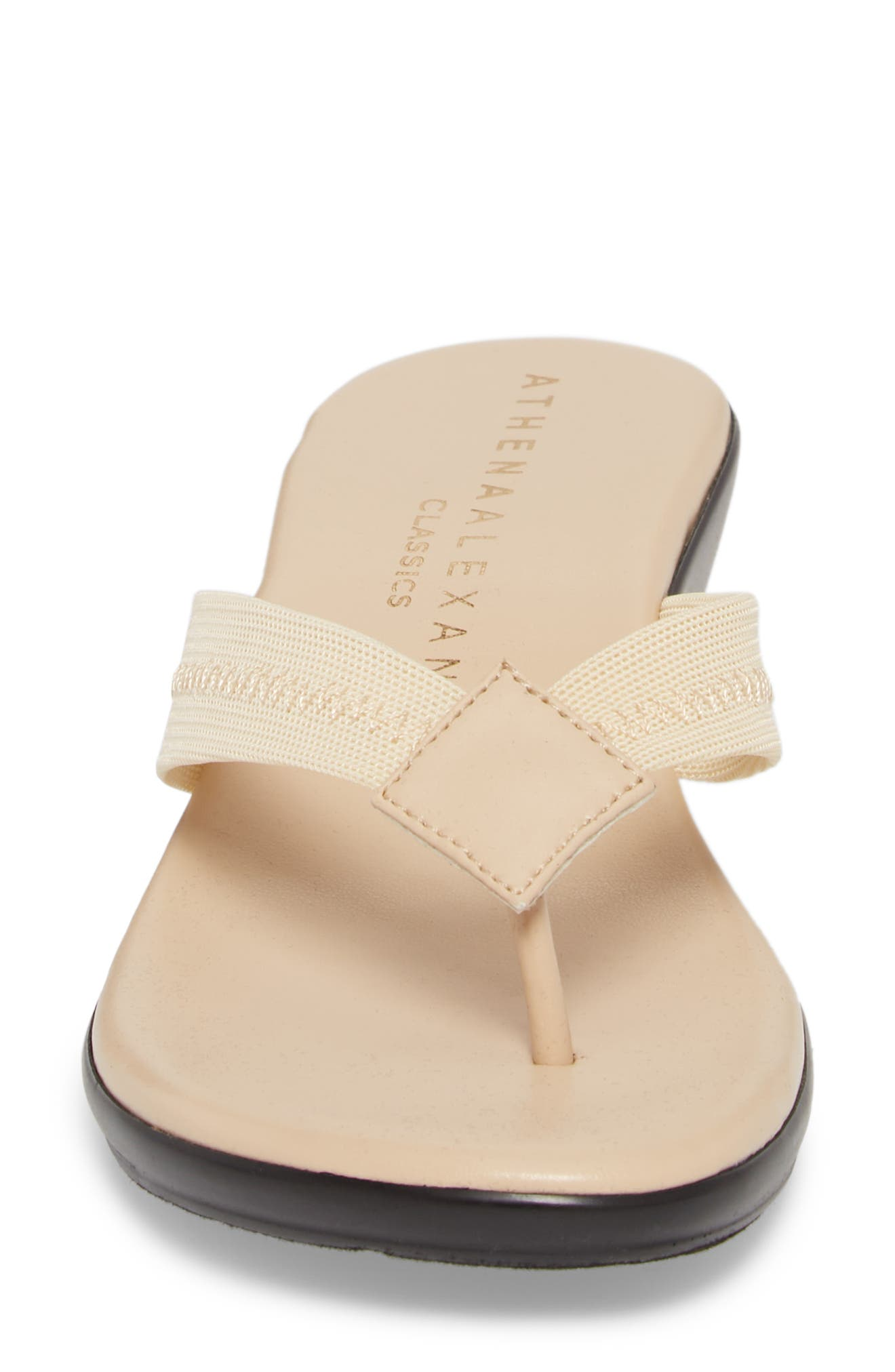 Ying Flip Flop,                             Alternate thumbnail 4, color,                             BEIGE STRETCH FABRIC