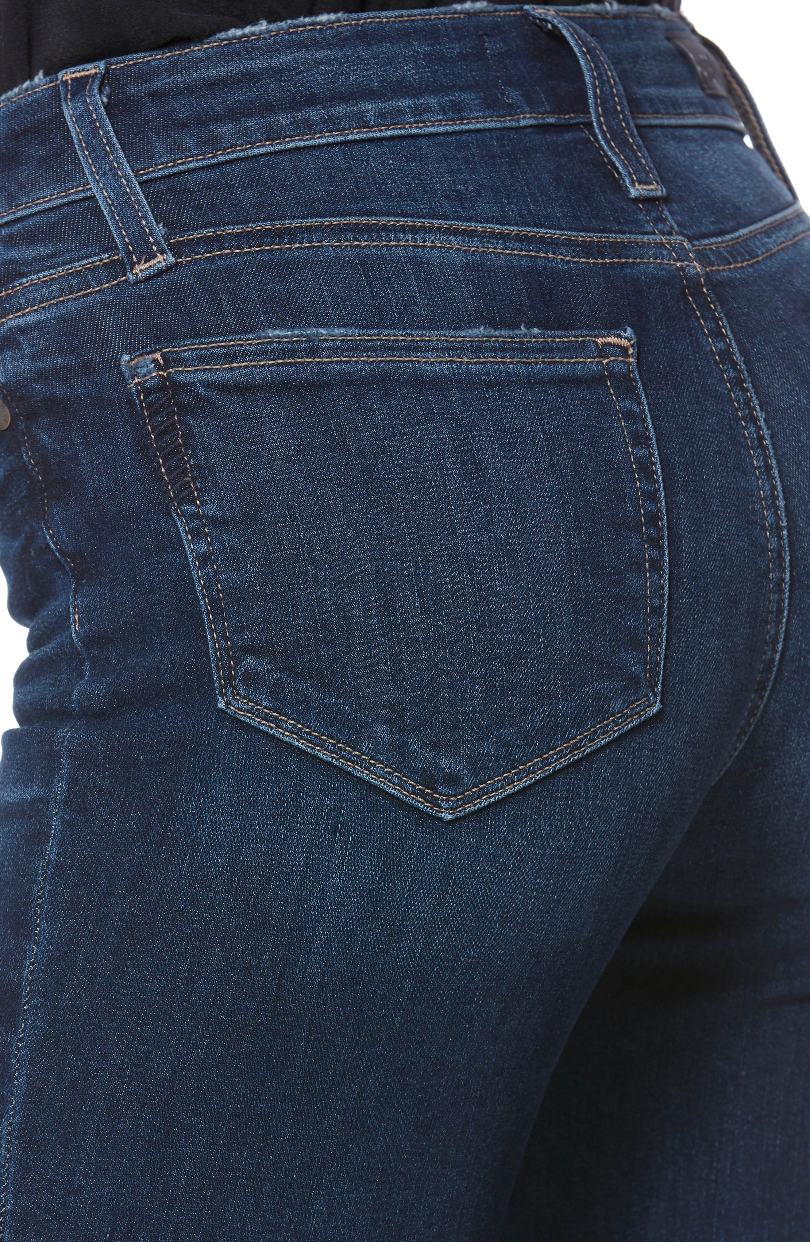 PAIGE,                             Transcend Vintage - Colette Frayed Crop Flare Jeans,                             Alternate thumbnail 6, color,                             PALMA