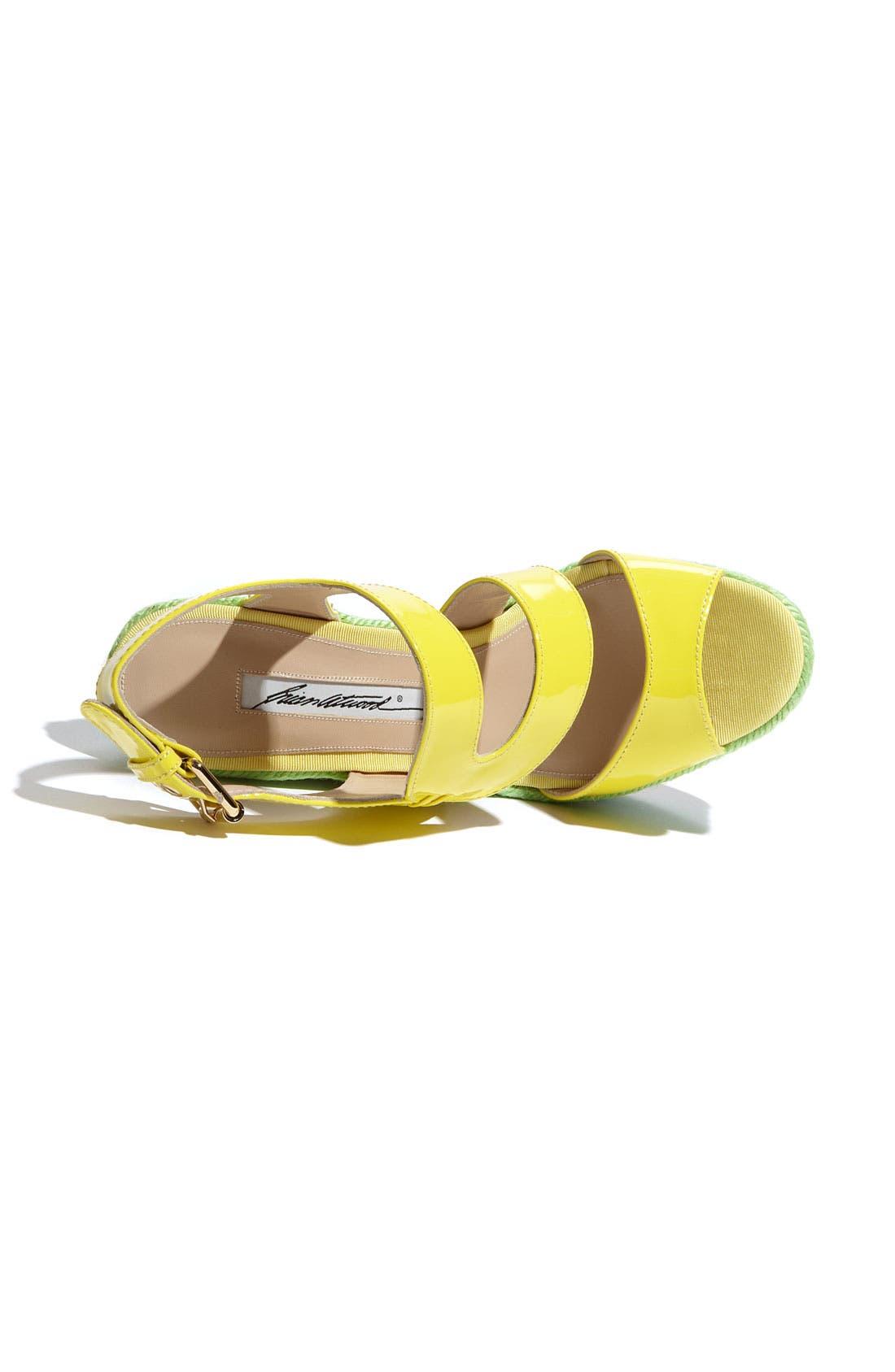 'Ariane' Espadrille Wedge Sandal,                             Alternate thumbnail 3, color,