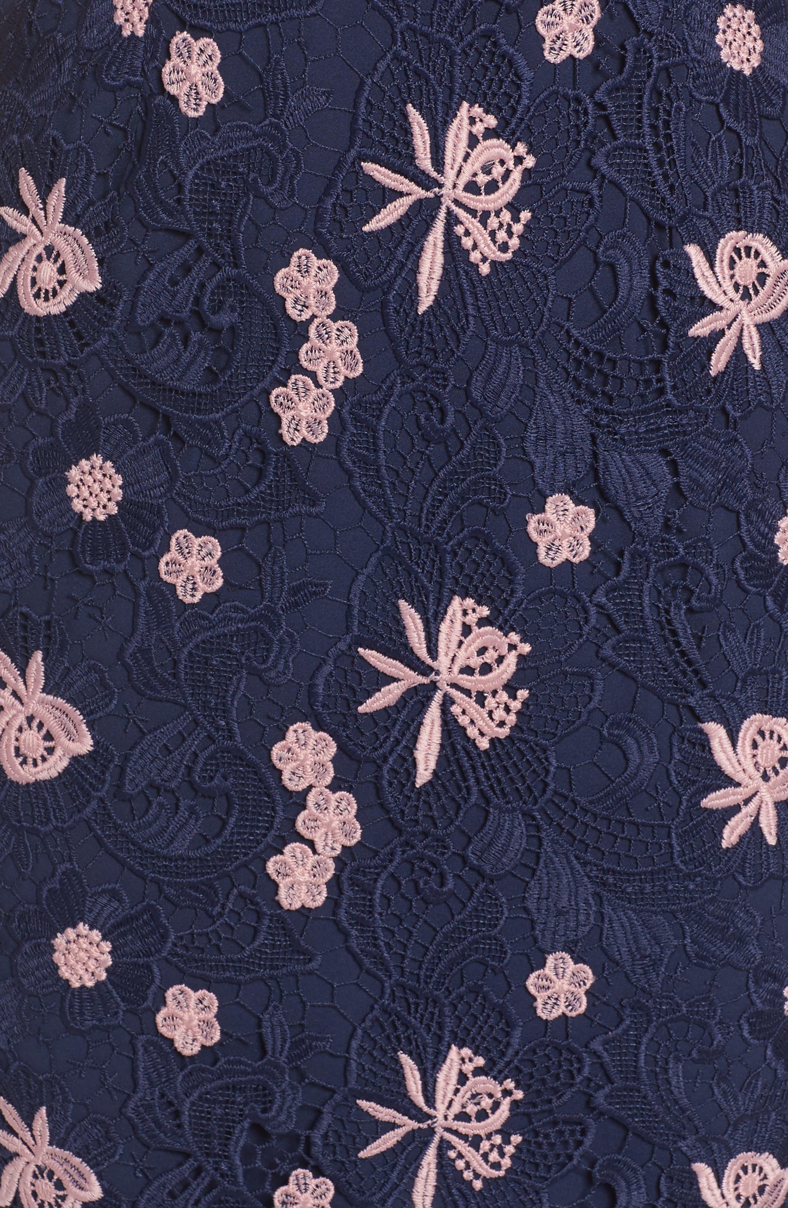 Botanic Bloom Sheath Dress,                             Alternate thumbnail 5, color,