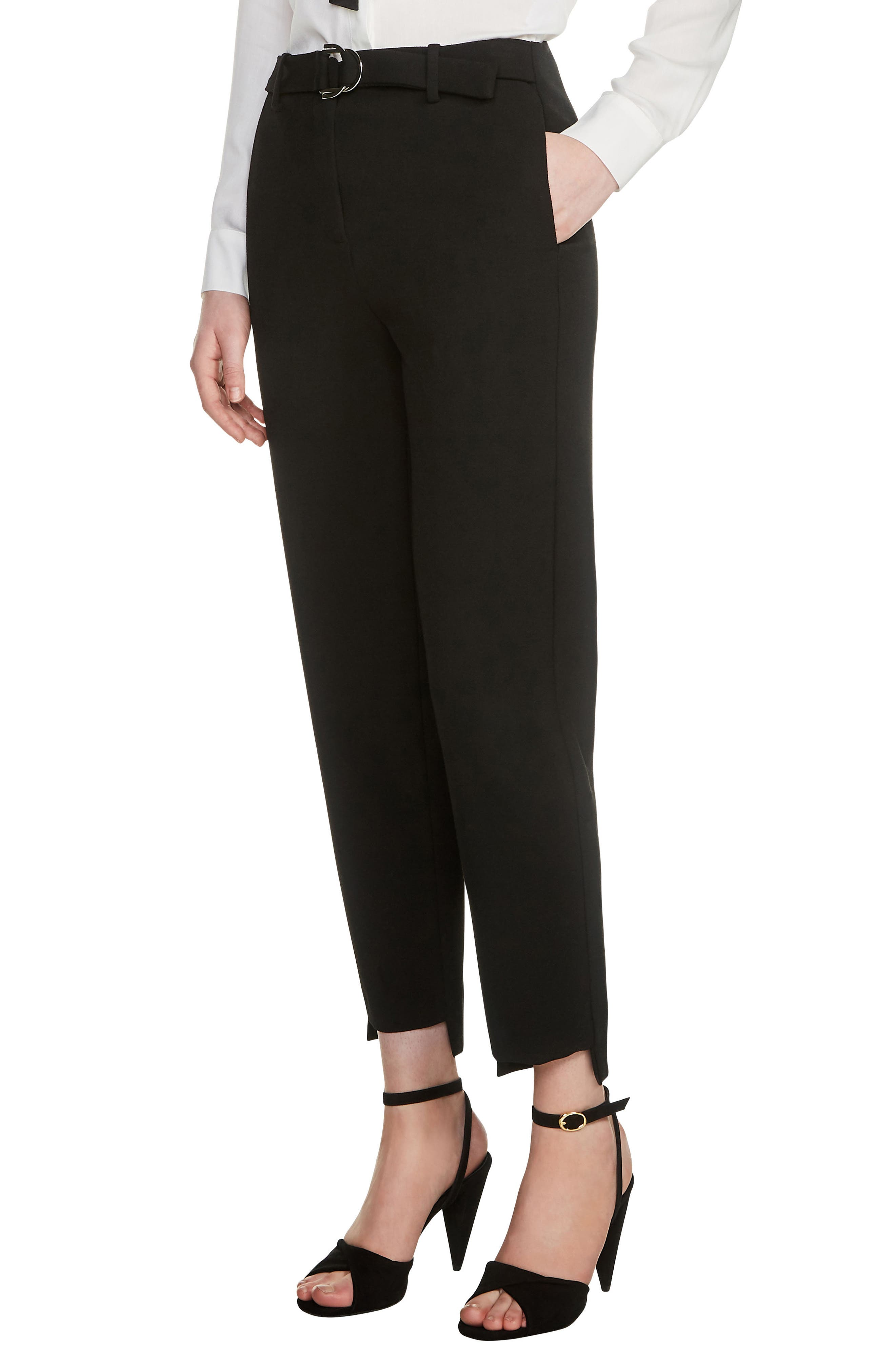 High/Low Ankle Pants,                         Main,                         color, 001