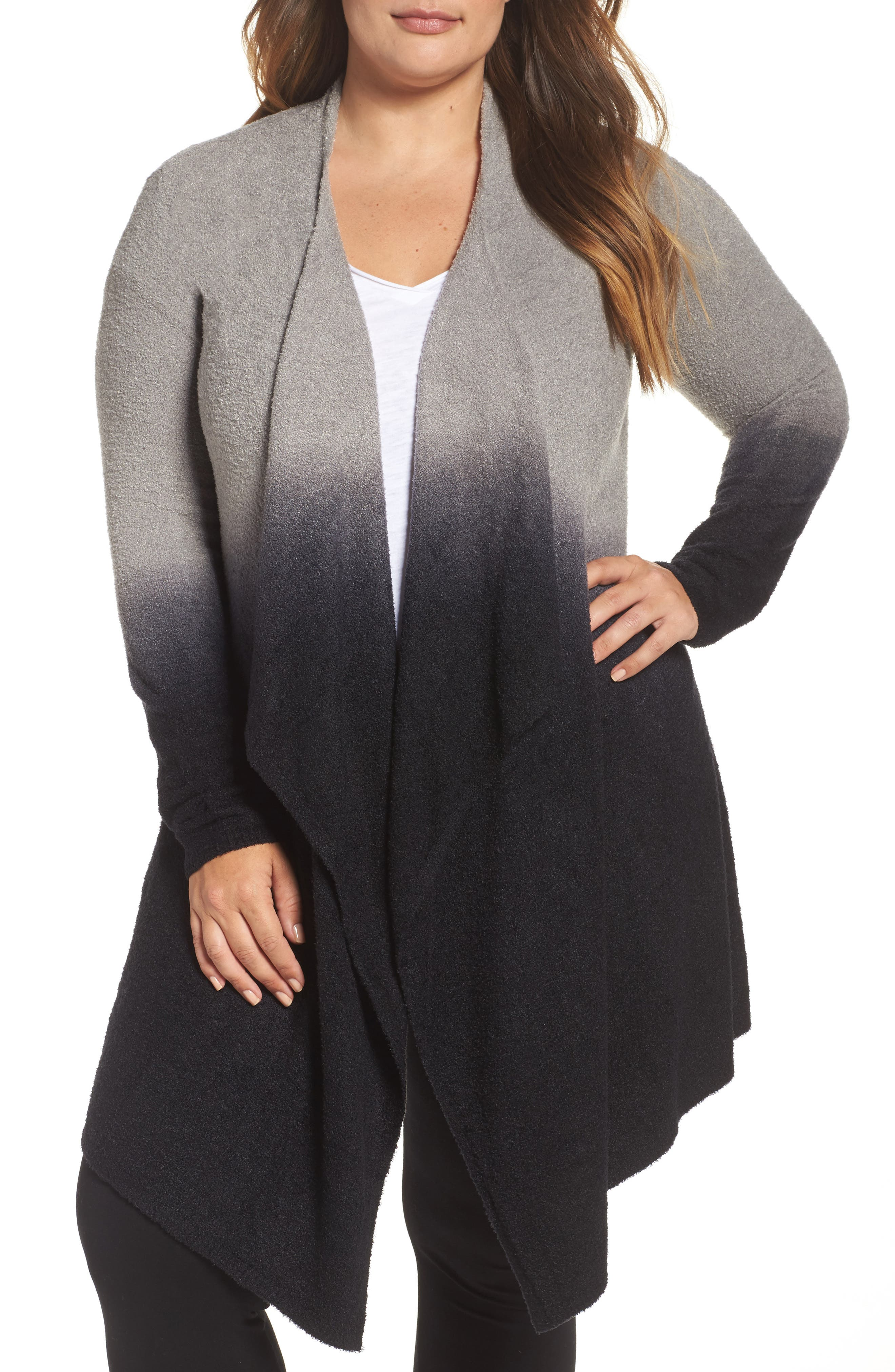 CozyChic Lite<sup>®</sup> Calypso Wrap Cardigan,                             Main thumbnail 1, color,                             PEWTER MIDNIGHT OMBRE
