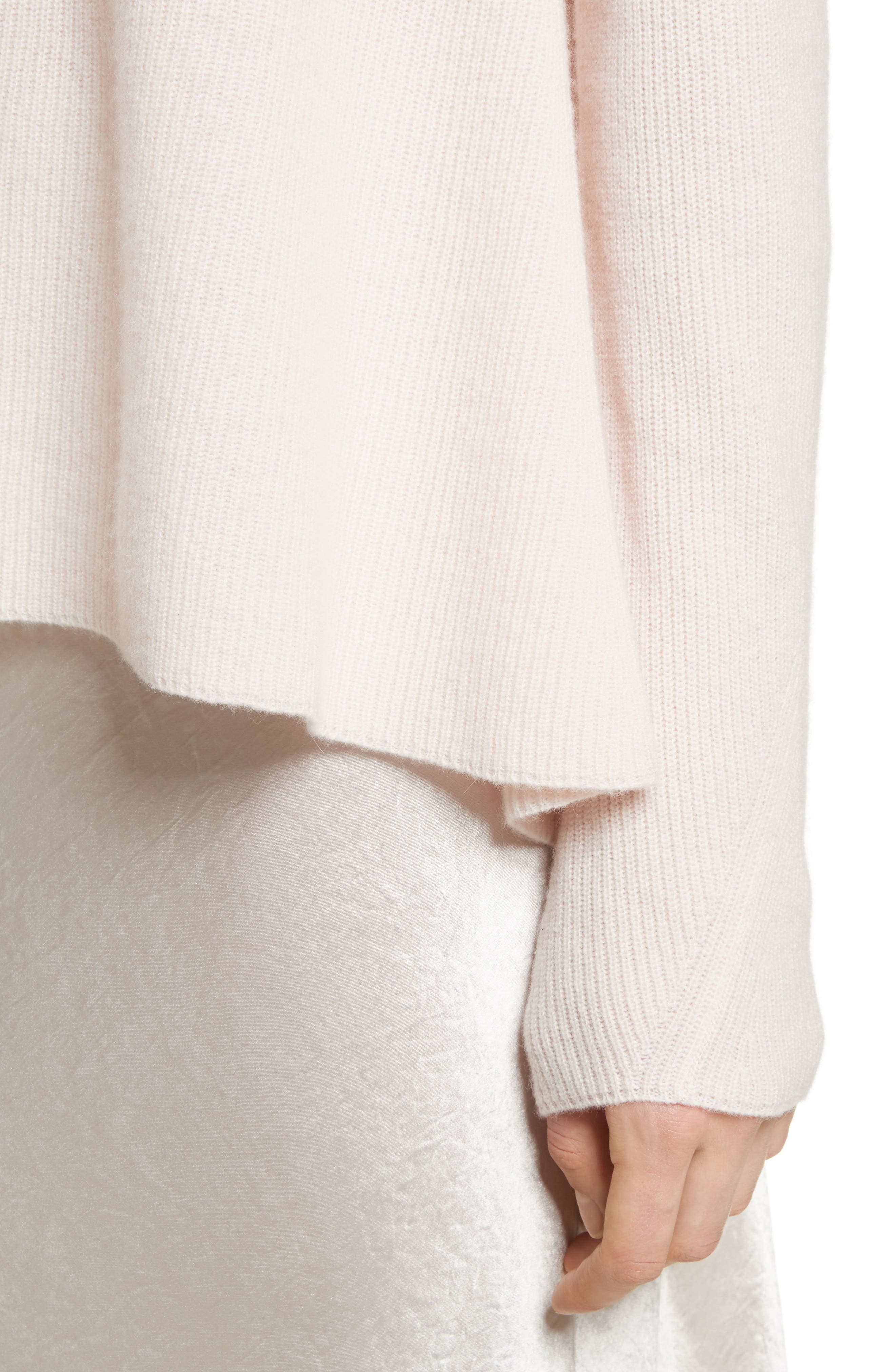 Ribbed Cashmere Sweater,                             Alternate thumbnail 11, color,