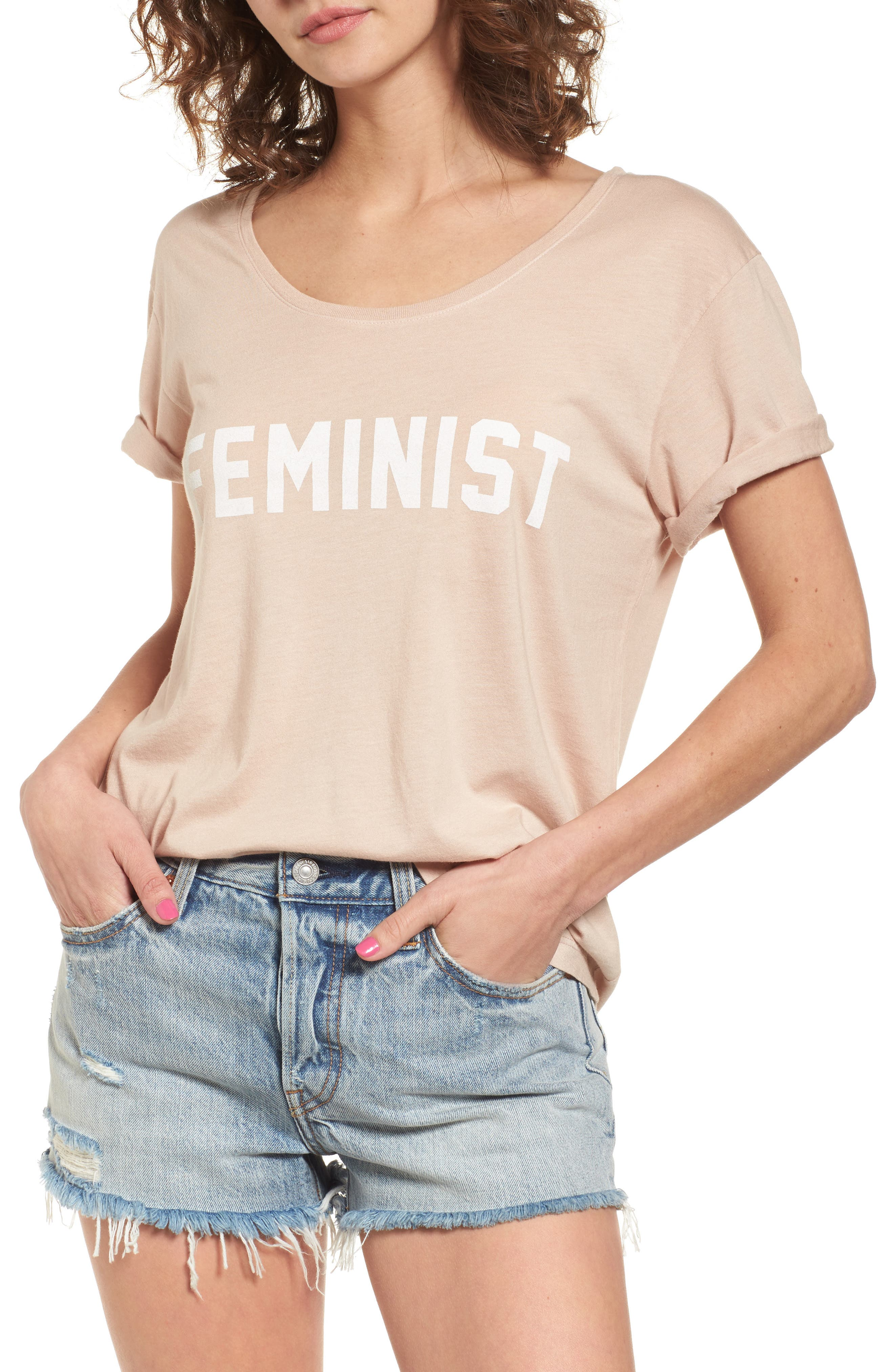 Feminist Graphic Tee,                             Main thumbnail 1, color,                             250
