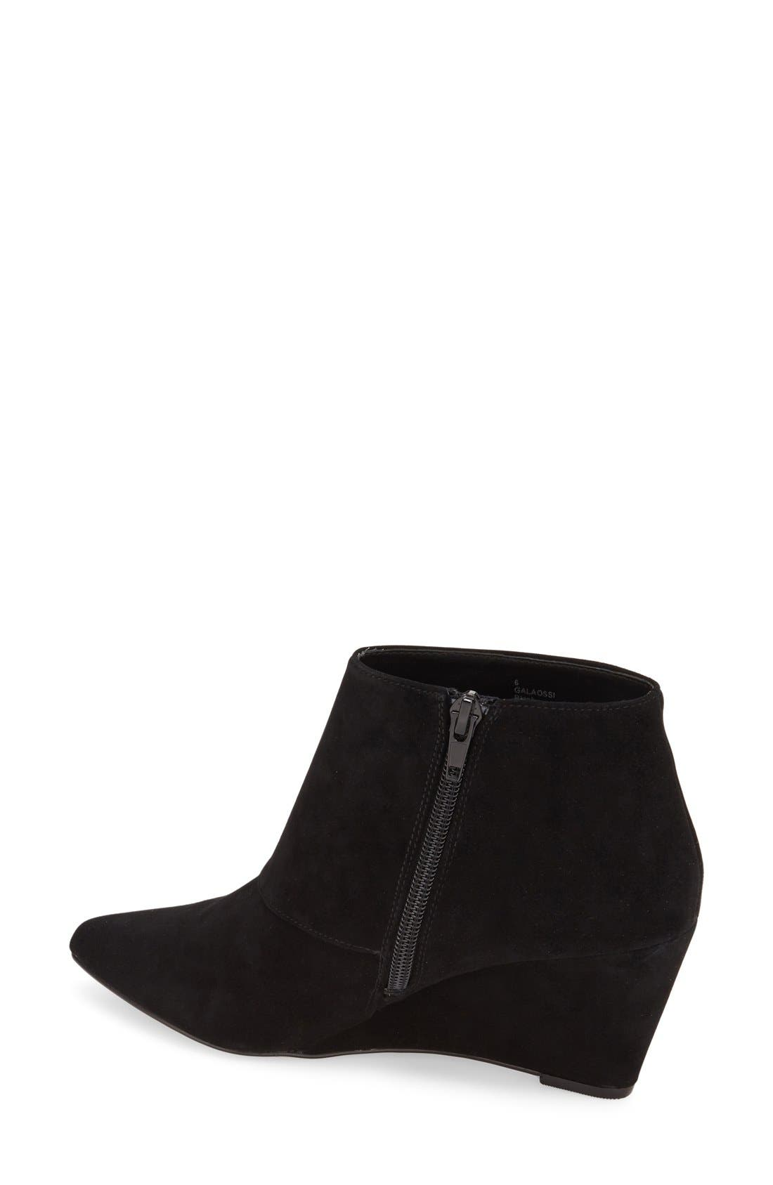 'Galaossi' Pointy Toe Wedge Bootie,                             Alternate thumbnail 3, color,                             003