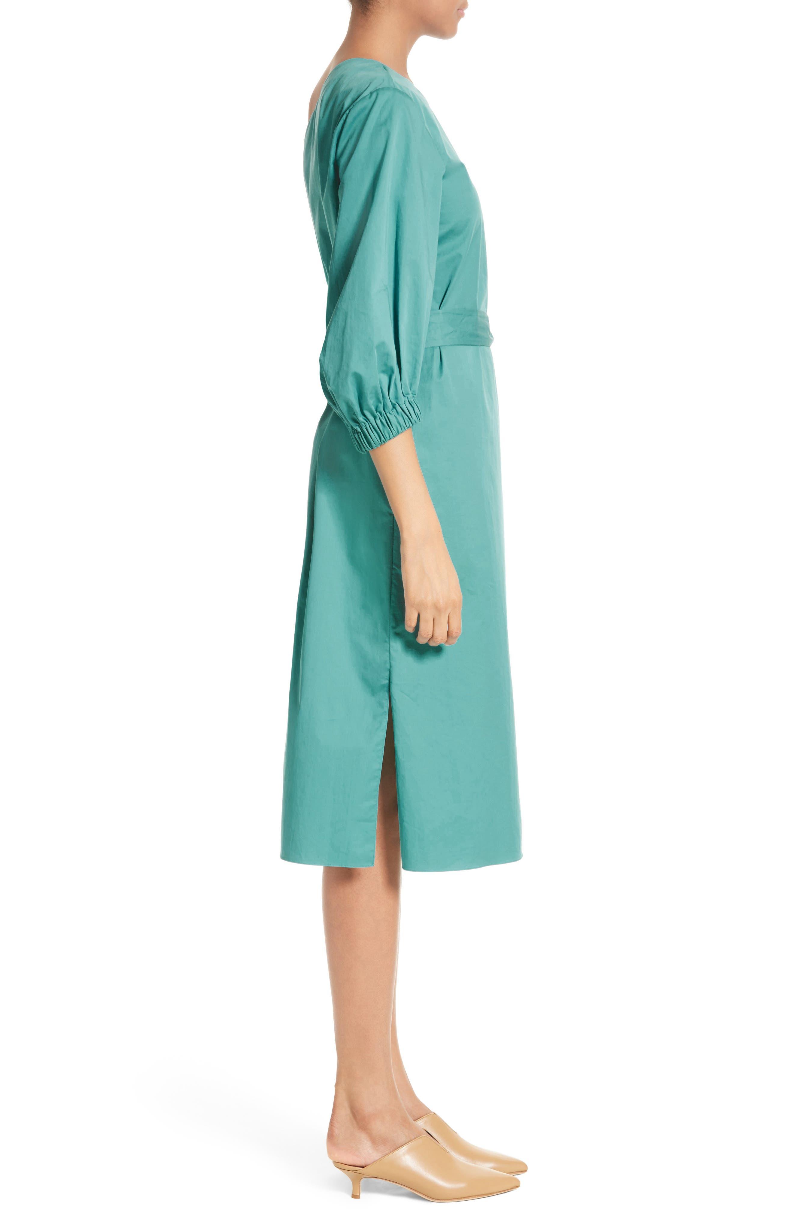 Cotton One-Shoulder Dress,                             Alternate thumbnail 3, color,                             442