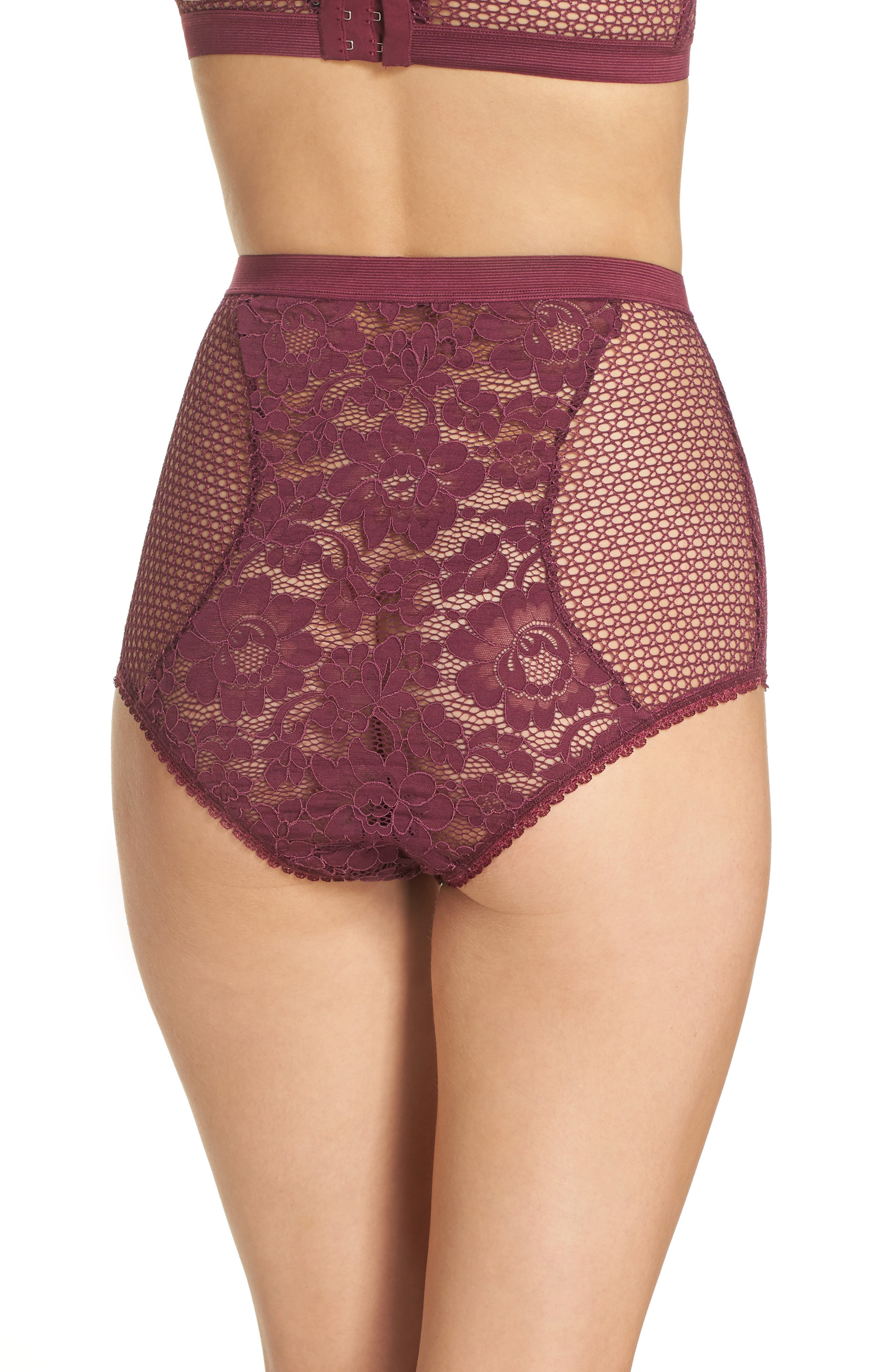 Petunia Lace Briefs,                             Alternate thumbnail 2, color,                             MAGENTA