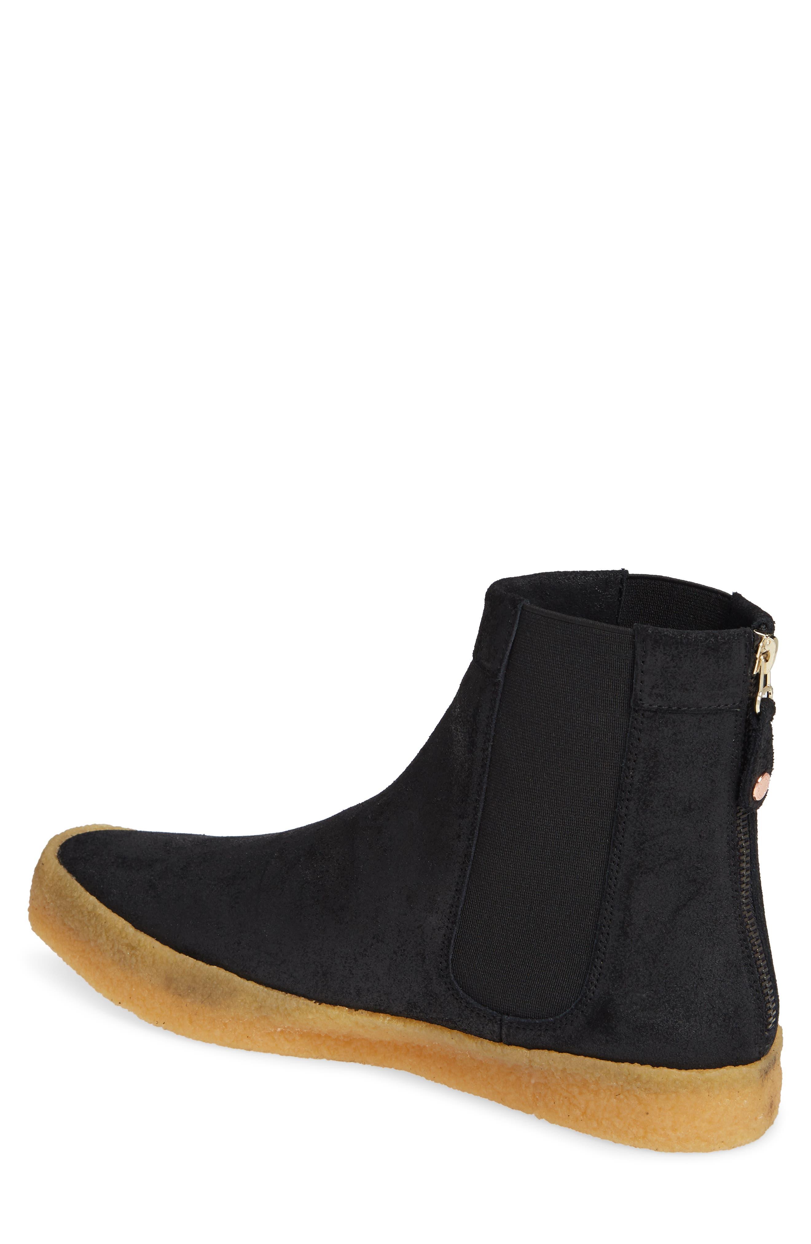 Sin Chelsea Boot,                             Main thumbnail 1, color,                             BLACK GUM SUEDE/ NYLON