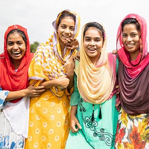 """Trainees from the """"Empowering Women Workers in Bangladesh"""" project, which aims to increase the number of women garment workers in leadership roles."""