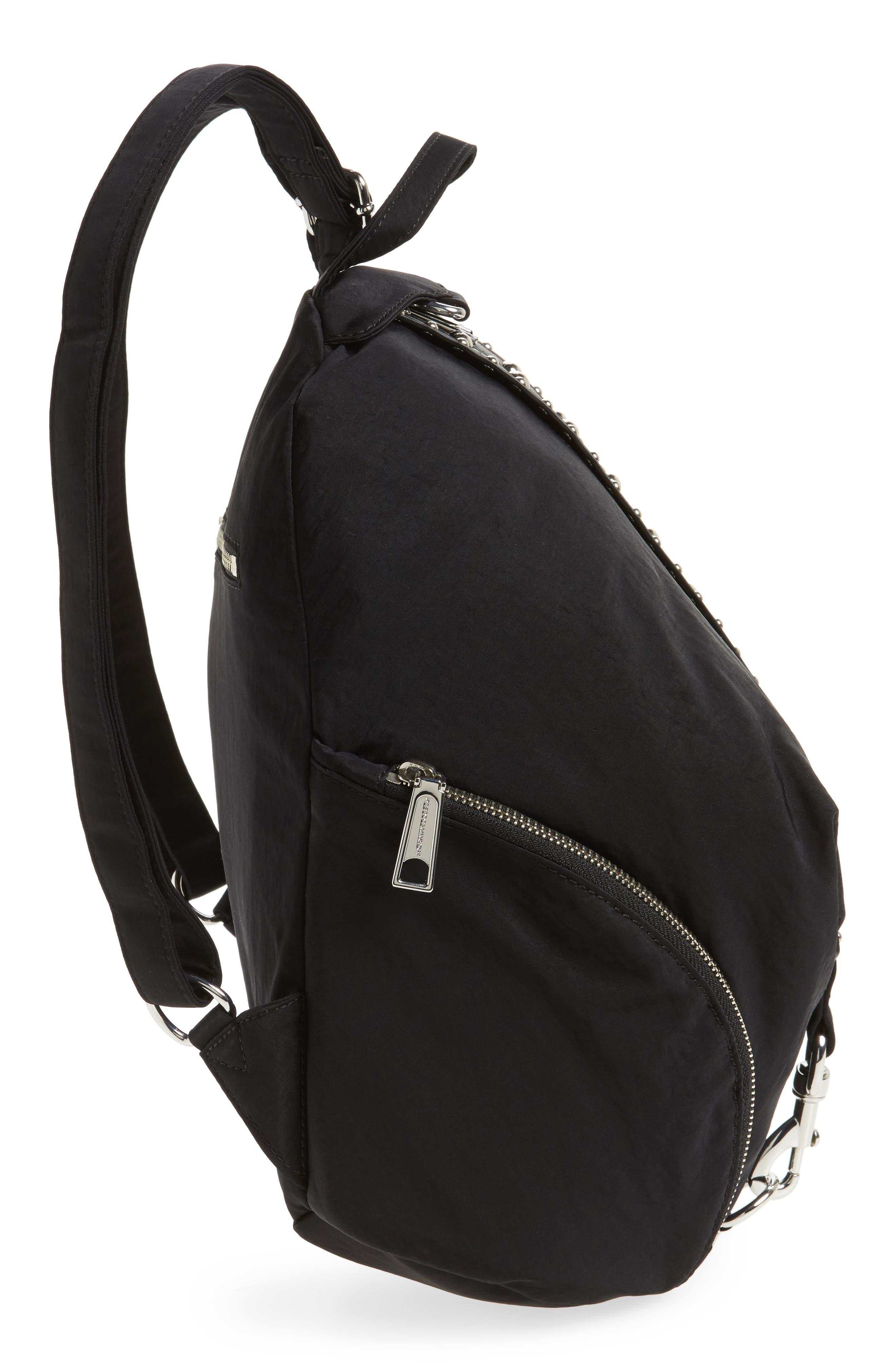 Julian Studded Nylon Backpack,                             Alternate thumbnail 5, color,
