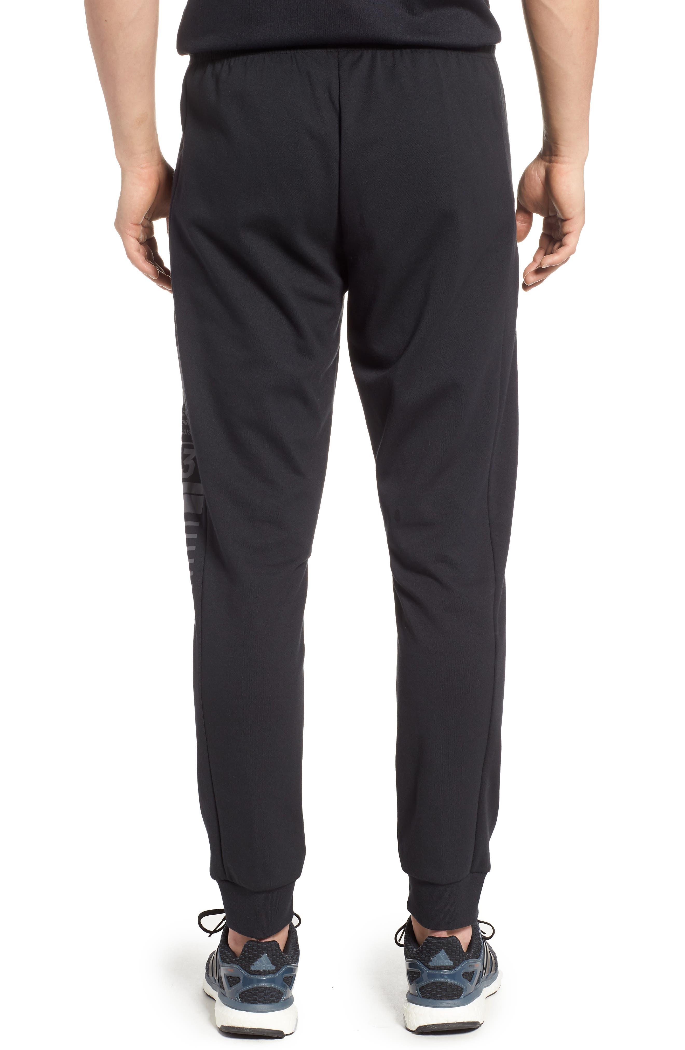 3-Stripes Track Pants,                             Alternate thumbnail 2, color,                             BLACK