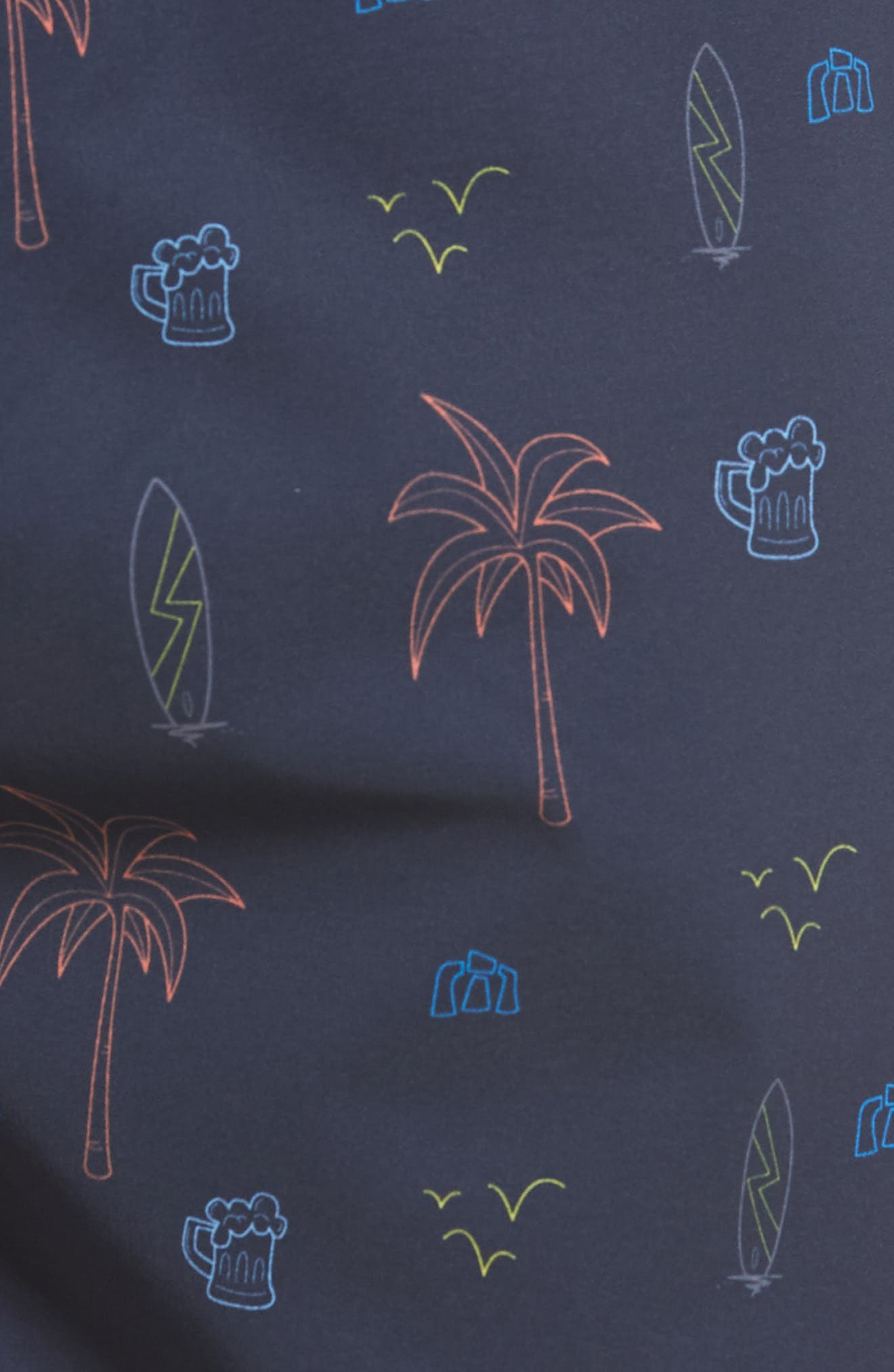 Safari Regular Fit Board Shorts,                             Alternate thumbnail 5, color,                             400