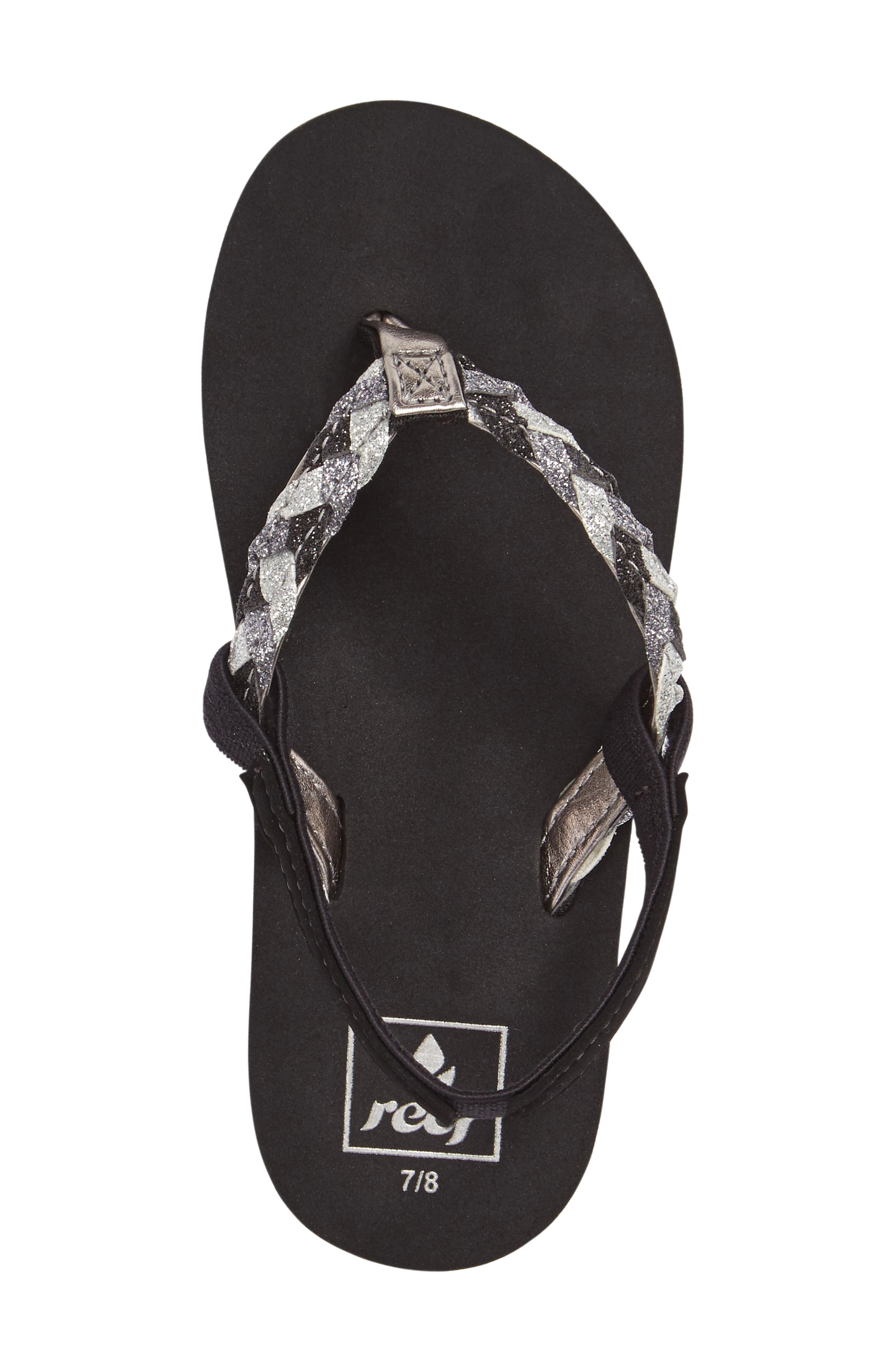 Little Twisted Stars II Water Repellent Flip Flop,                             Alternate thumbnail 6, color,