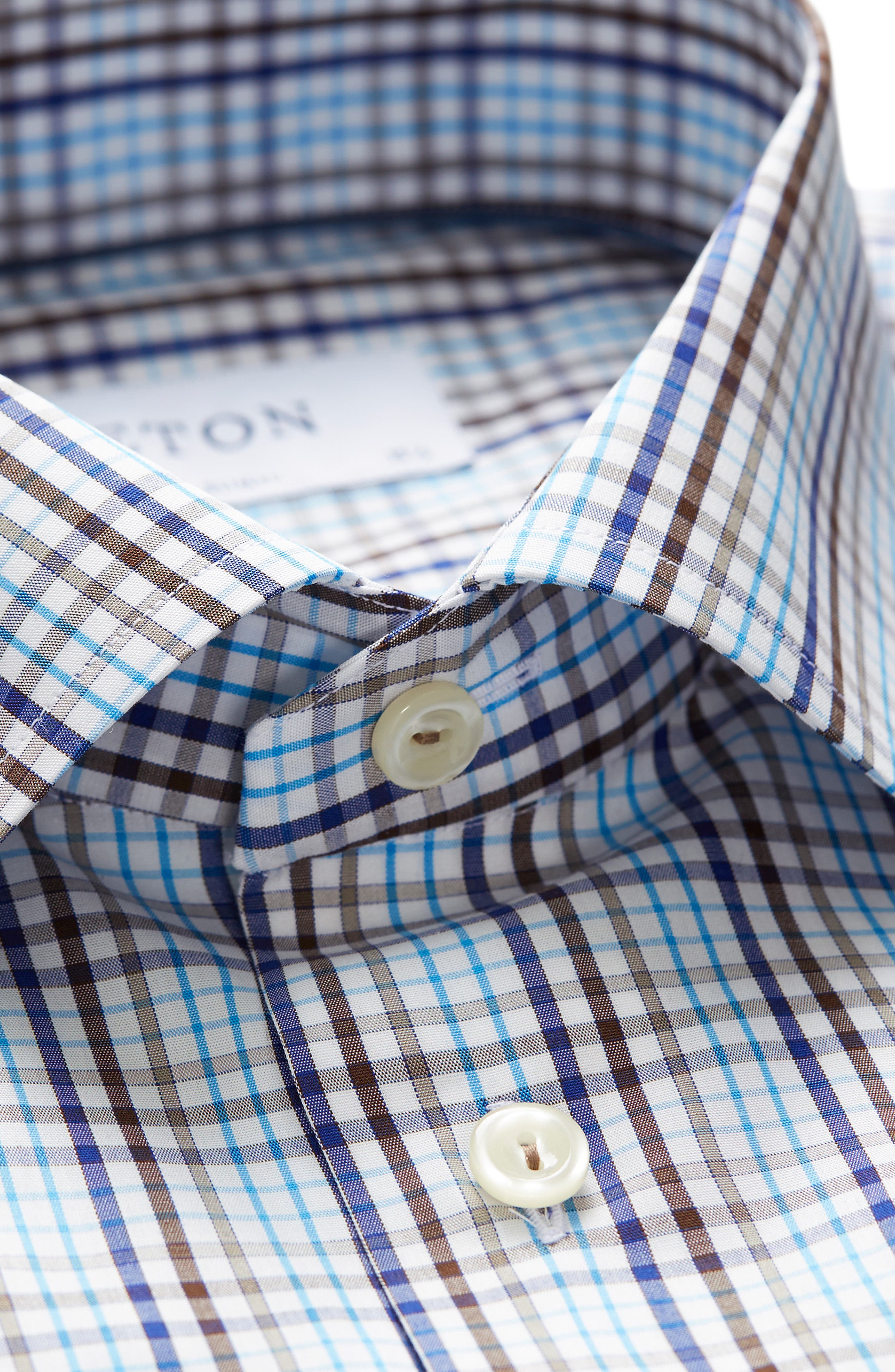 Contemporary Fit Check Dress Shirt,                             Alternate thumbnail 7, color,                             MULTI