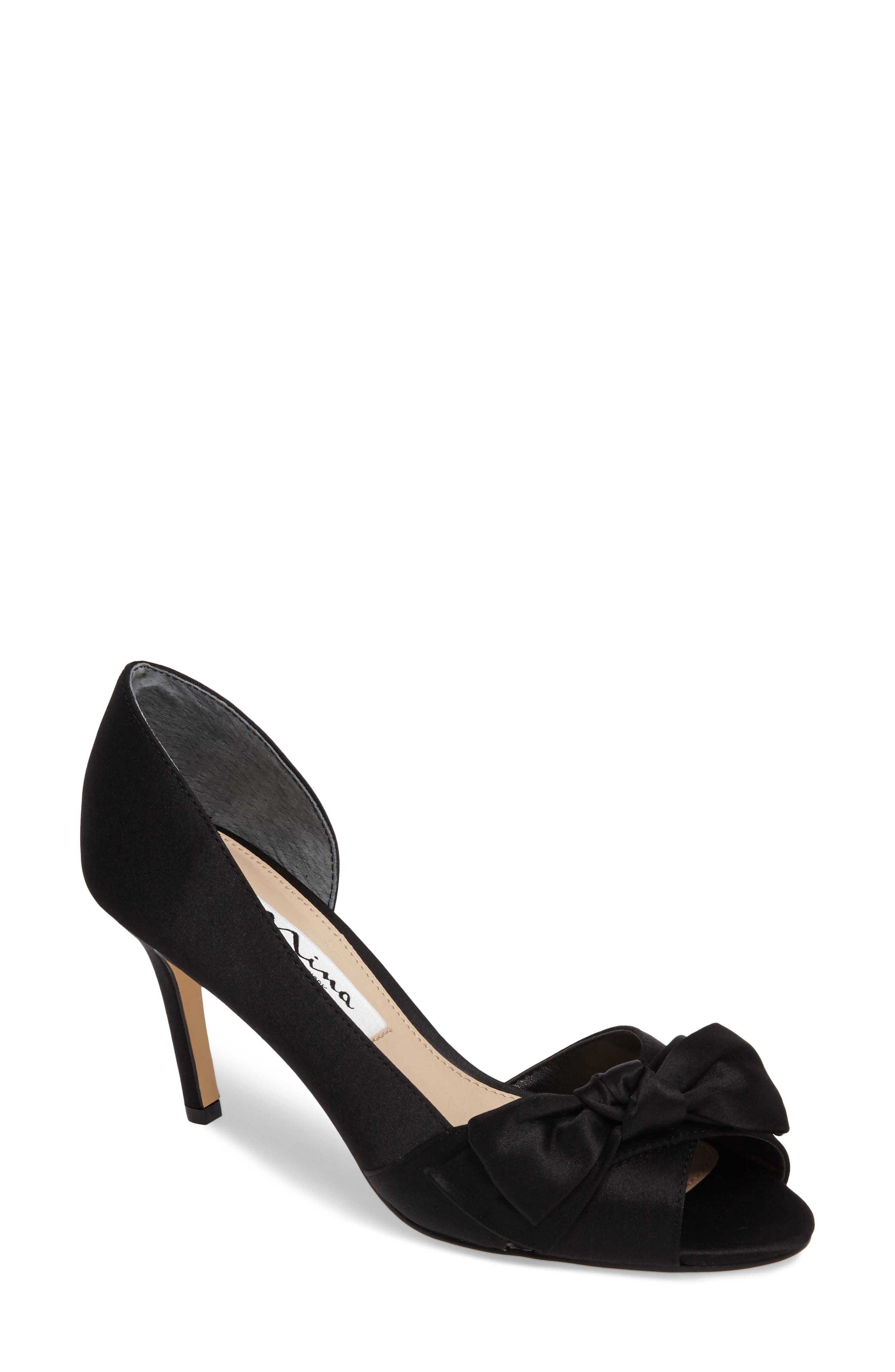 'Forbes' Peep Toe Pump,                         Main,                         color, 004