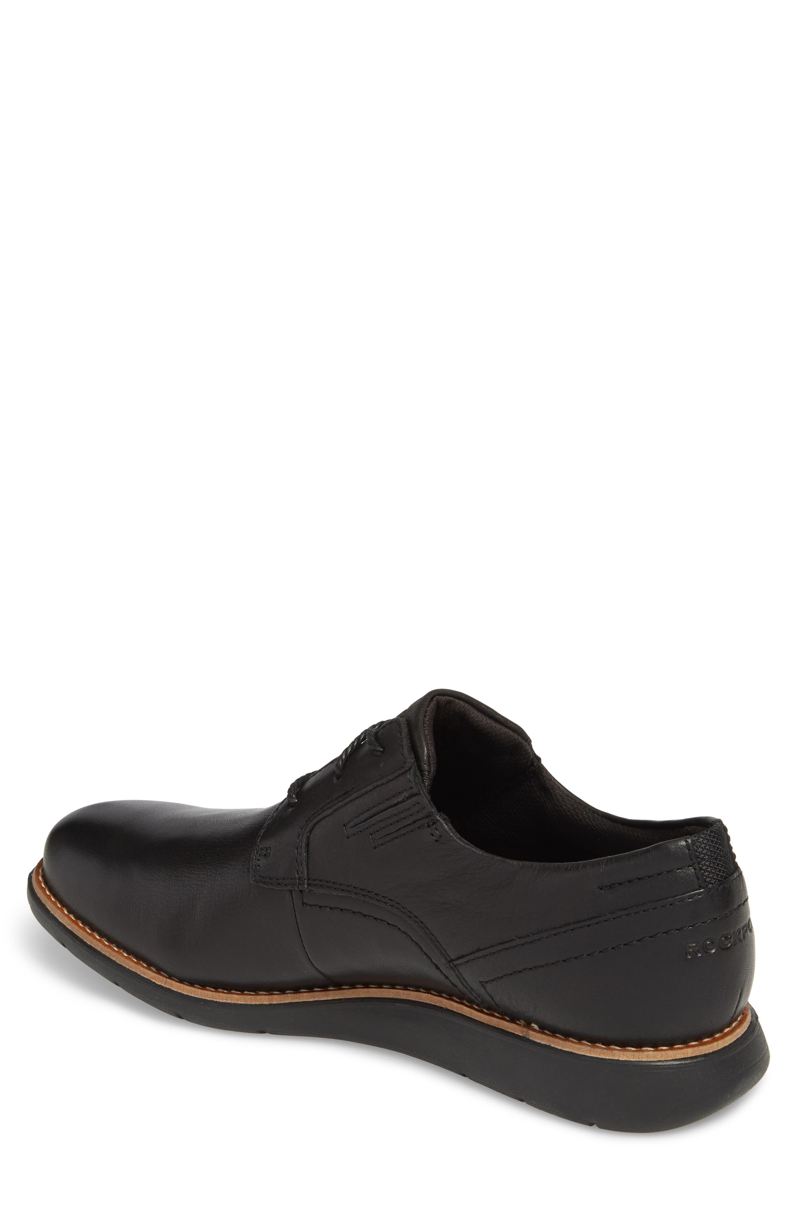 Total Motion Sport Plain Toe Derby,                             Alternate thumbnail 2, color,                             BLACK LEATHER