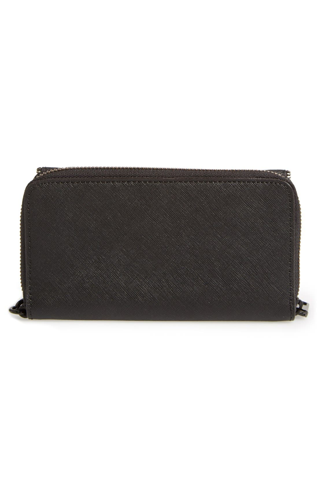REBECCA MINKOFF,                             'Zoey Tech' Wristlet,                             Alternate thumbnail 3, color,                             001