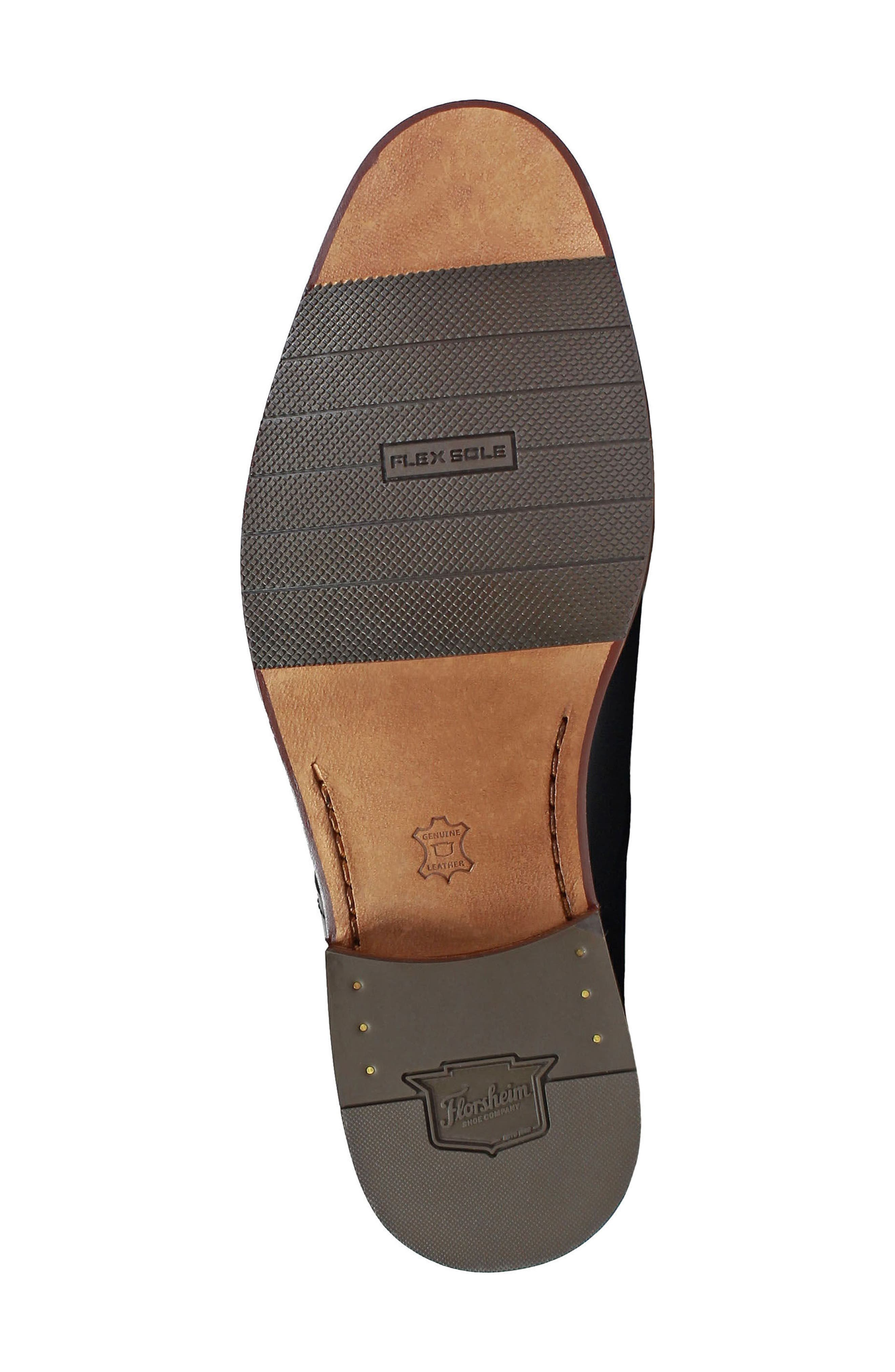 Salerno Apron Toe Derby,                             Alternate thumbnail 6, color,                             BLACK LEATHER