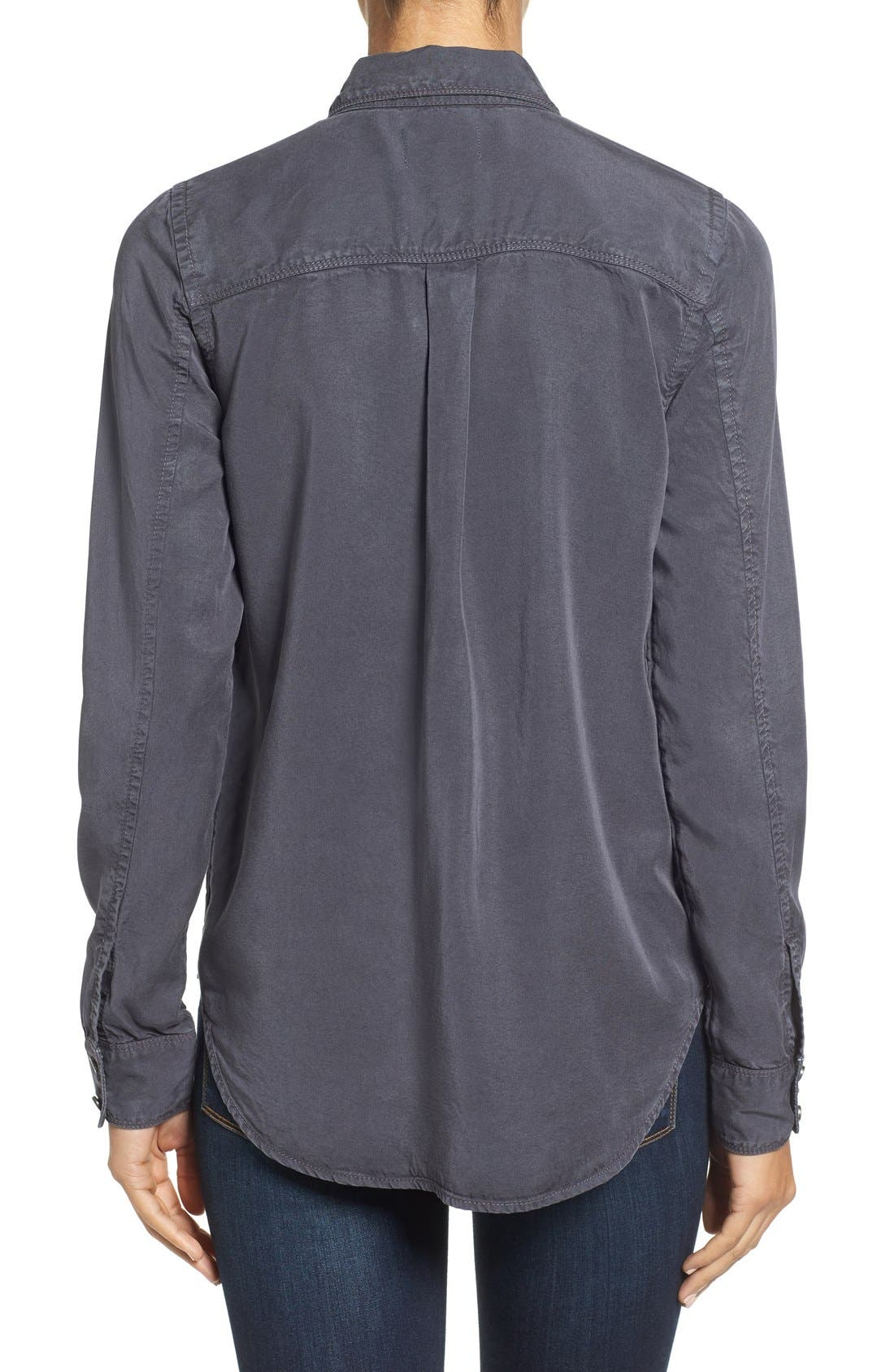 CASLON<SUP>®</SUP>,                             Long Sleeve Denim Shirt,                             Alternate thumbnail 2, color,                             030