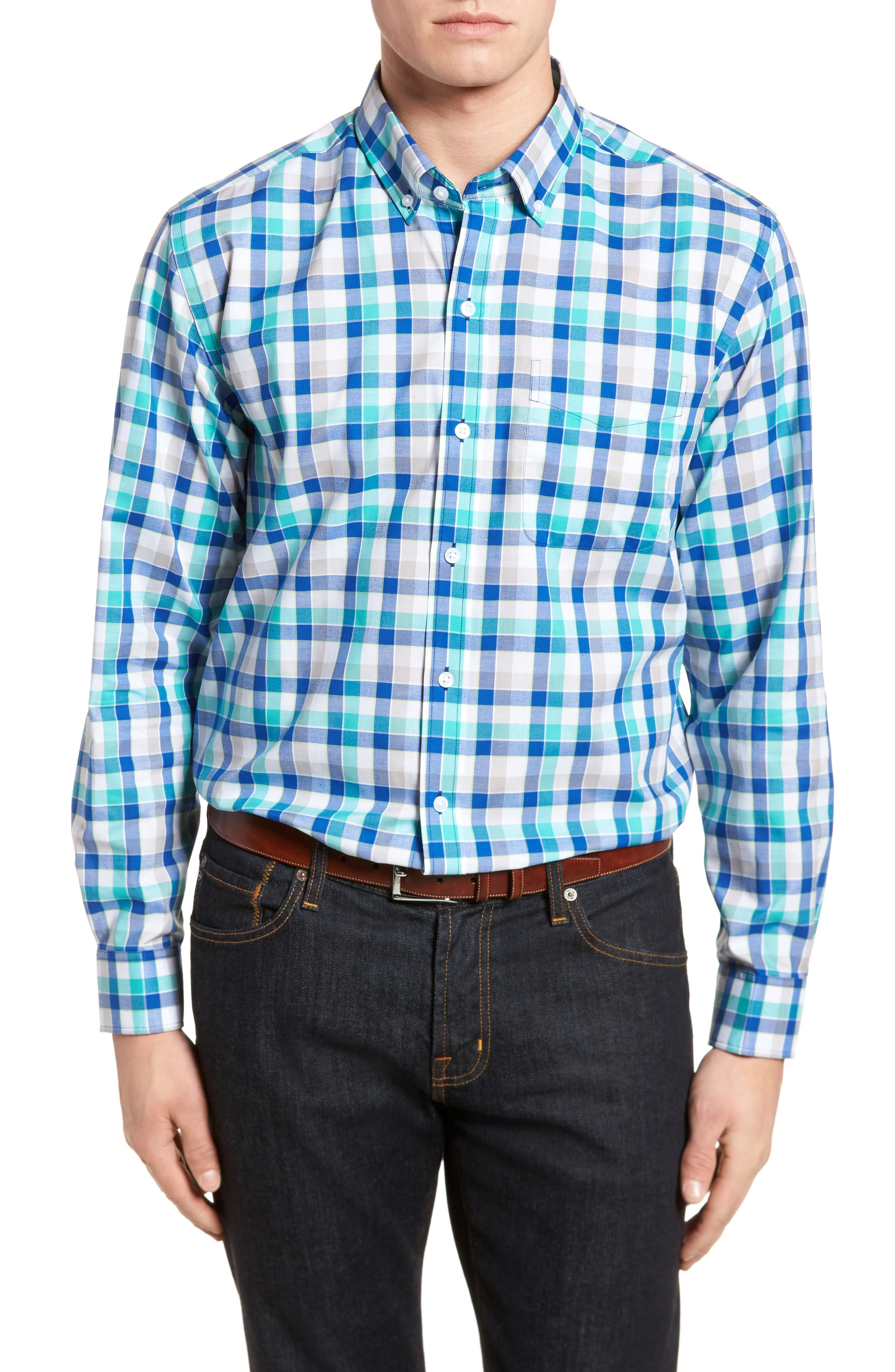 Dylan Classic Fit Easy Care Check Sport Shirt,                             Main thumbnail 1, color,