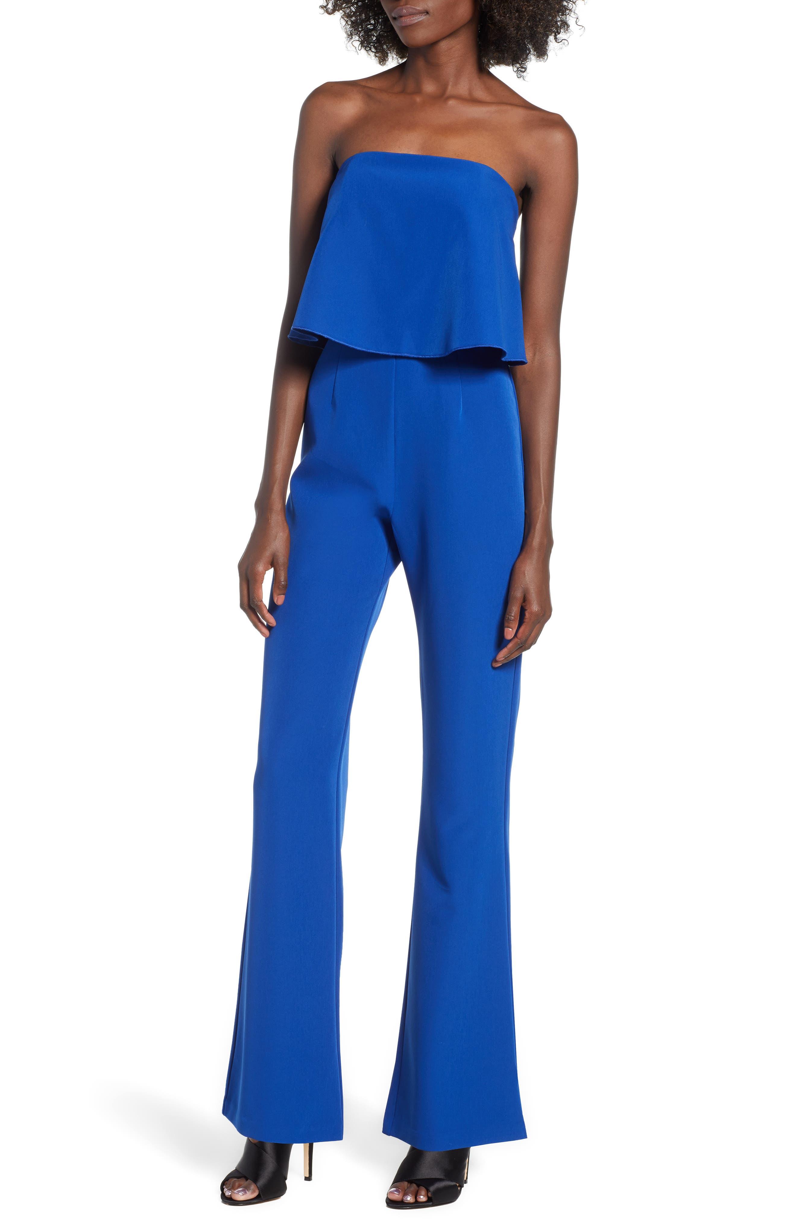 Popover Jumpsuit,                         Main,                         color, BLUE MAZARINE