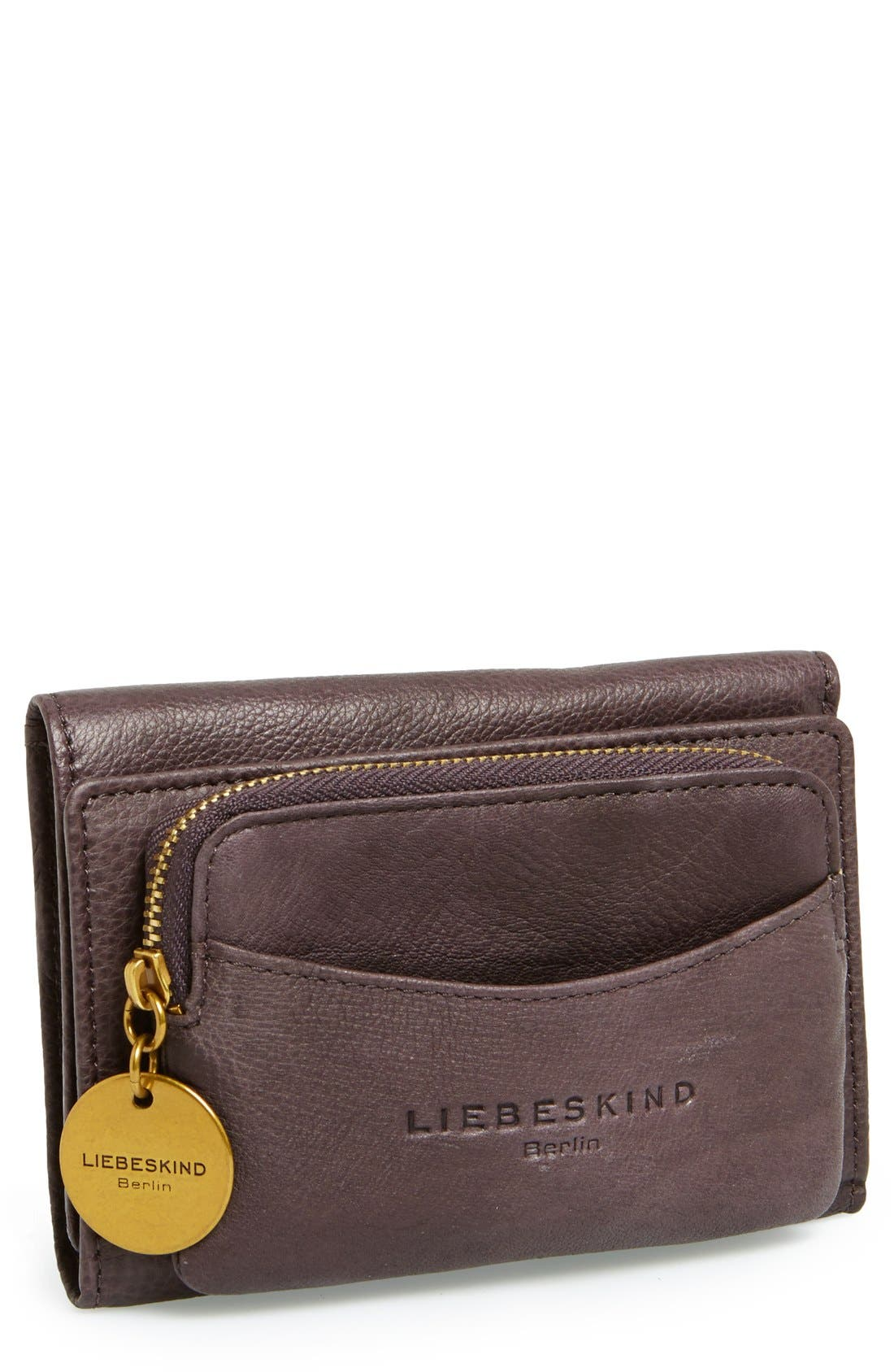 LIEBESKIND,                             'Small Alexandra' Leather Wallet,                             Main thumbnail 1, color,                             020