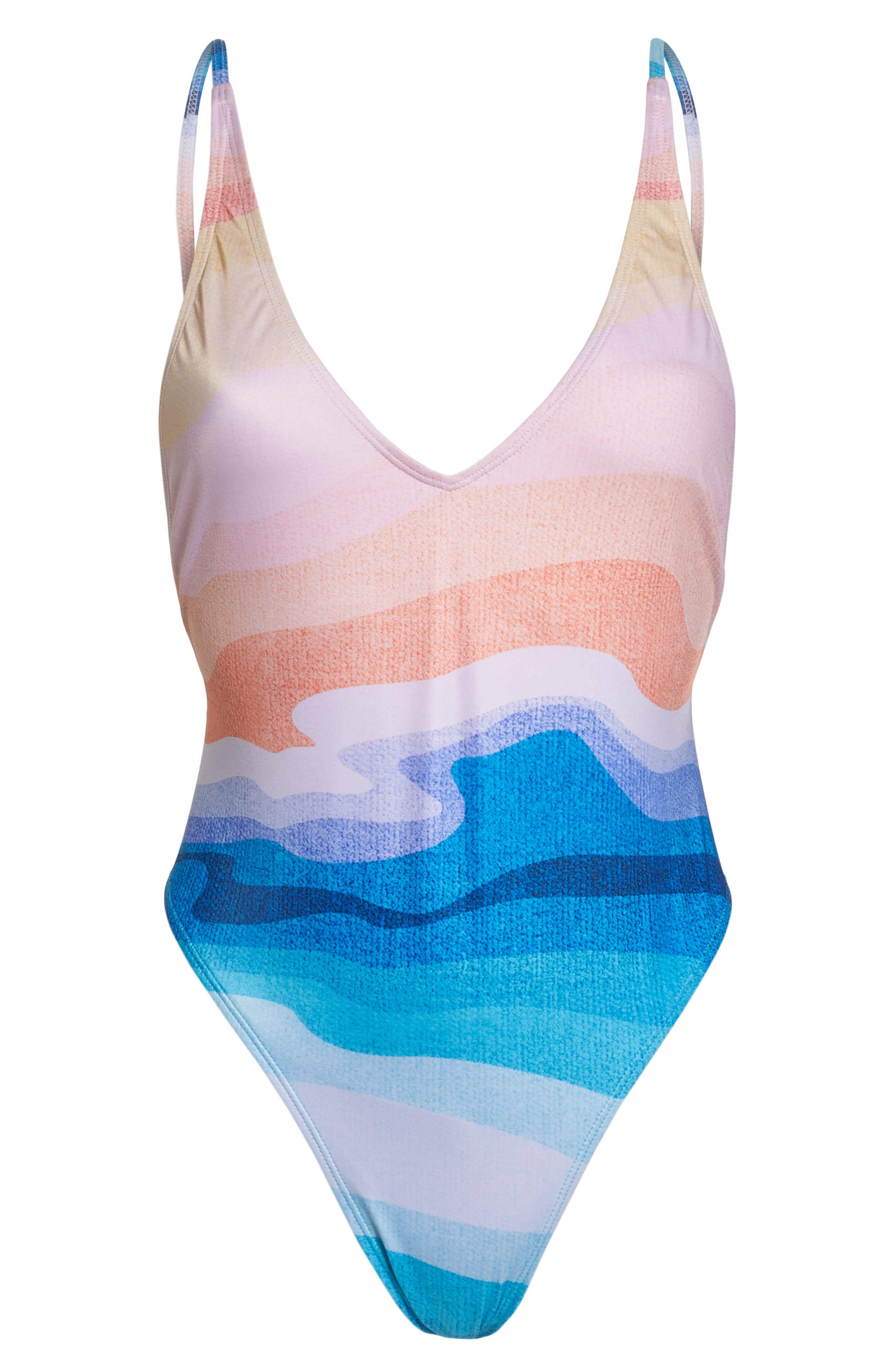 Sea Trip One-Piece Swimsuit,                             Alternate thumbnail 6, color,                             MIRAGE