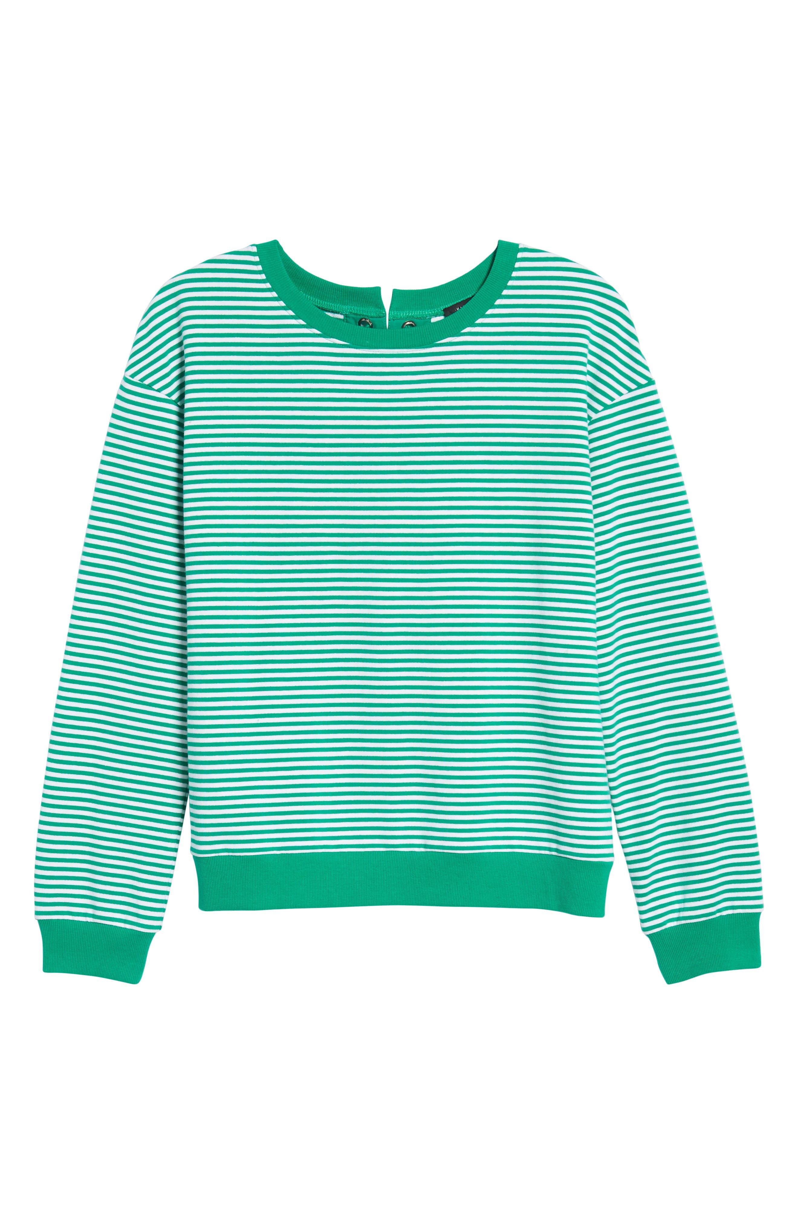 Lace-Up Knit Top,                             Alternate thumbnail 6, color,                             310