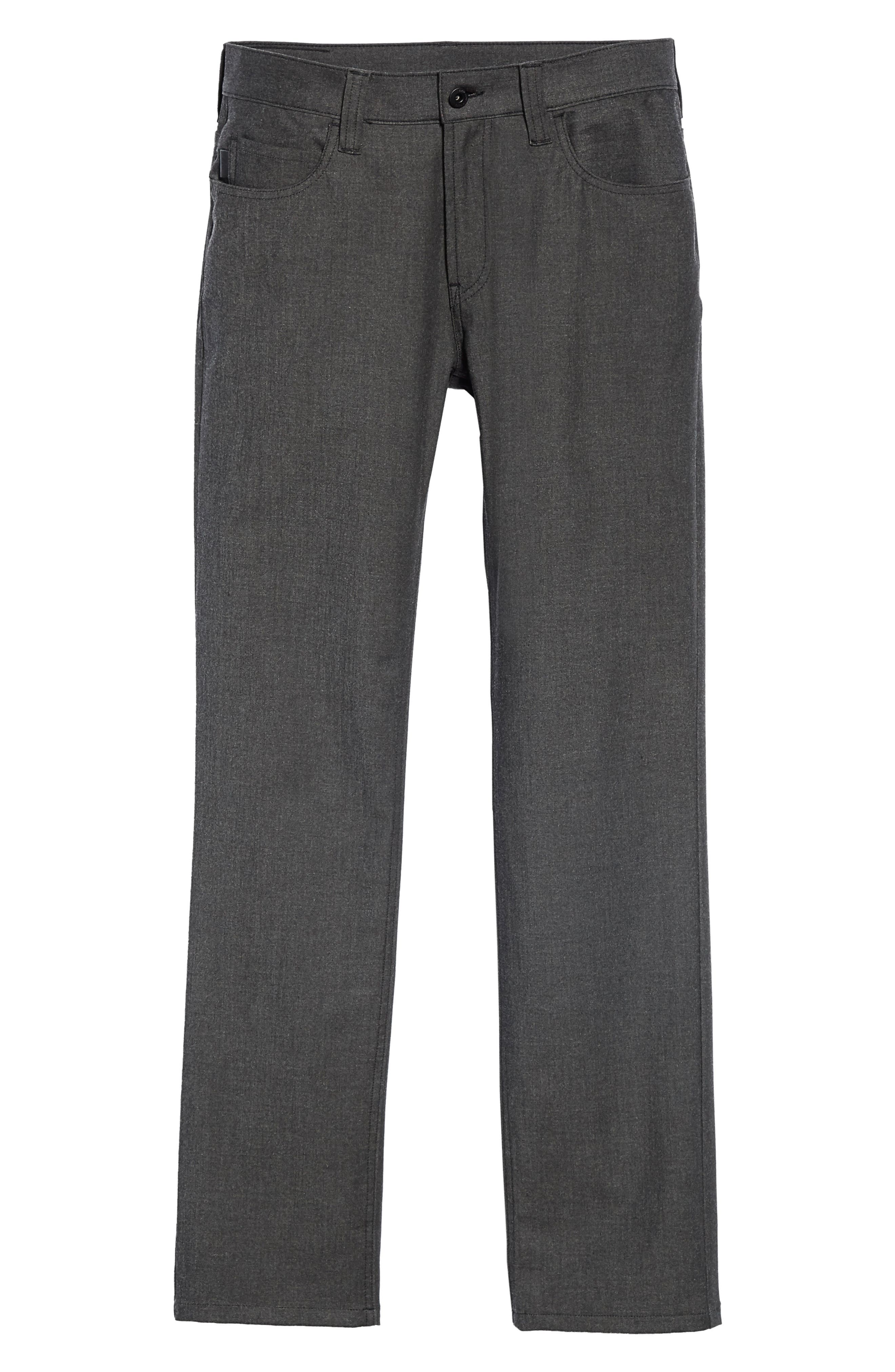 Flat Front Five Pocket Trousers,                             Alternate thumbnail 6, color,                             CHARCOAL