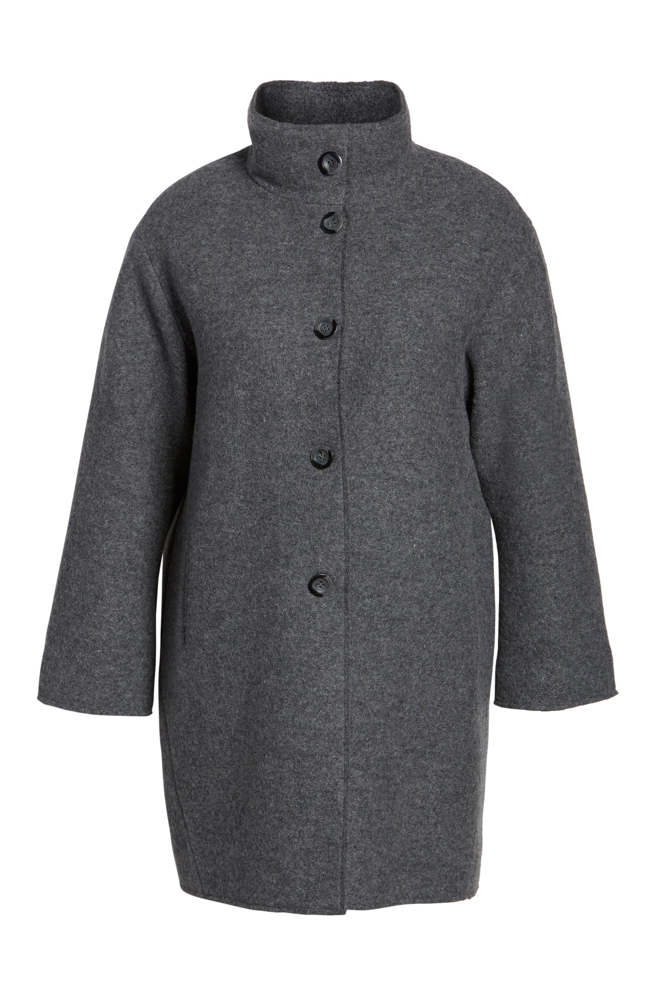 Wool Blend Coat,                             Alternate thumbnail 5, color,