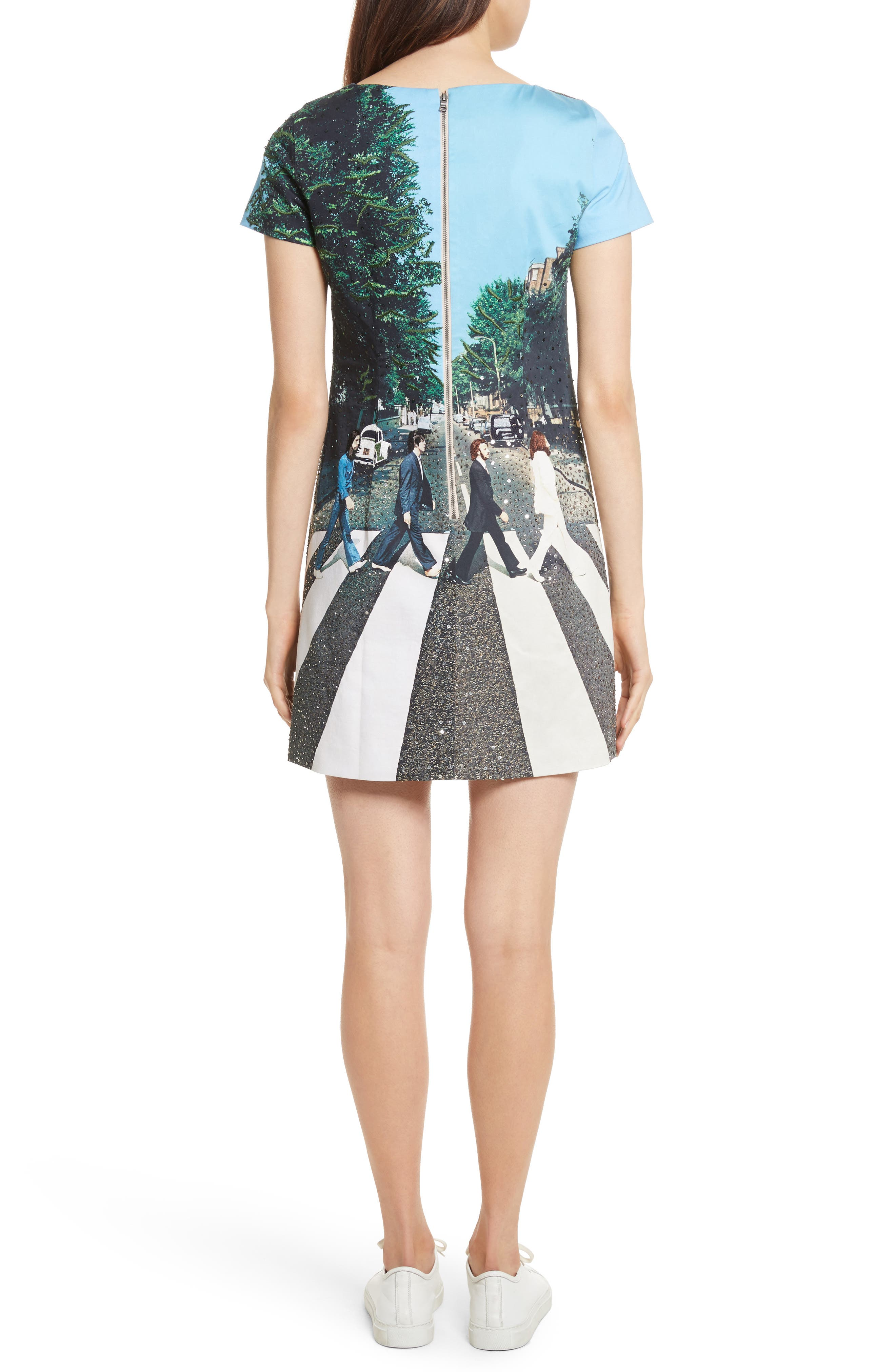 ALICE + OLIVIA,                             AO x The Beatles Sequined Shift Dress,                             Alternate thumbnail 2, color,                             473