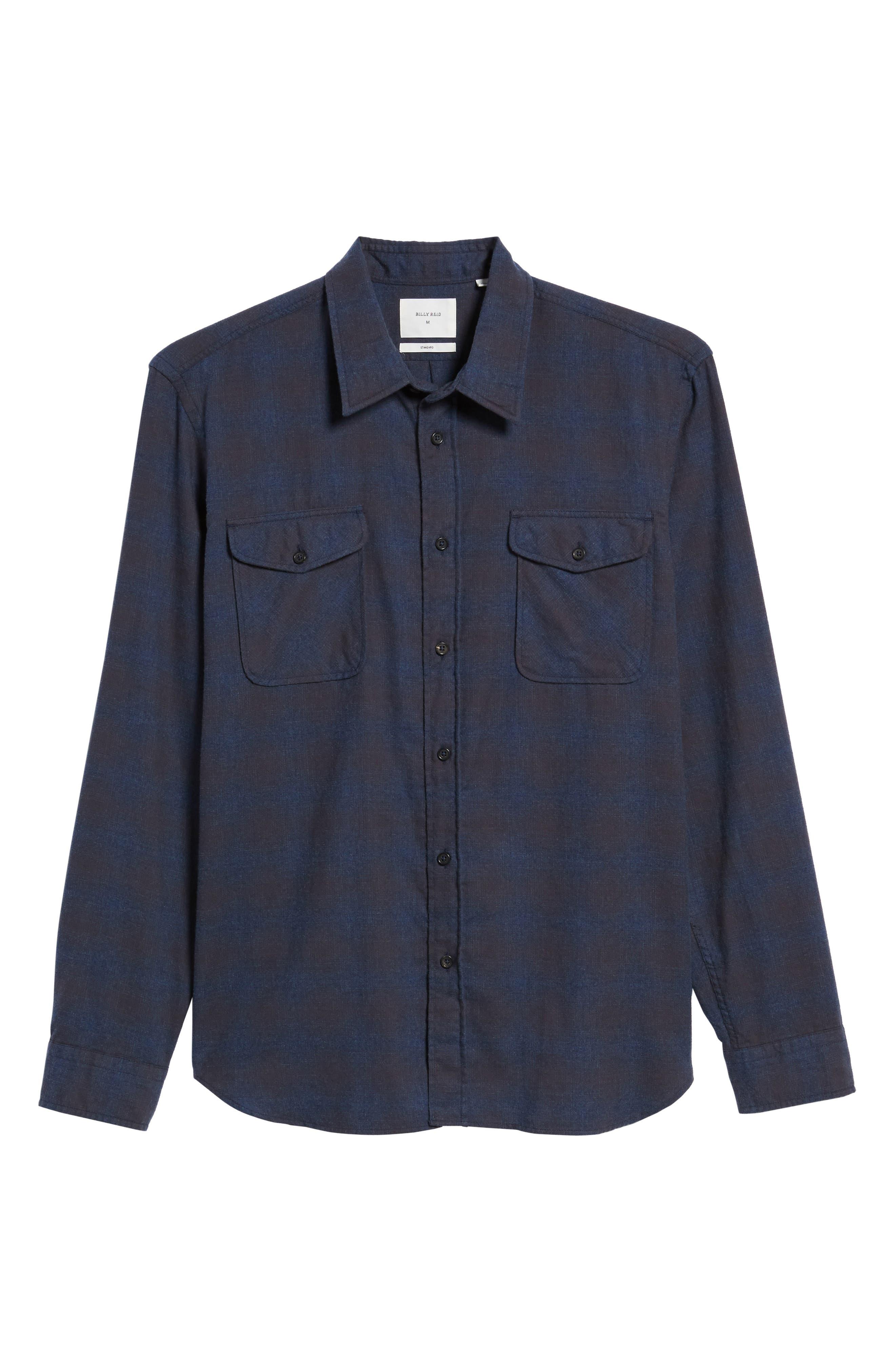 Graham Standard Fit Check Sport Shirt,                             Alternate thumbnail 6, color,                             410