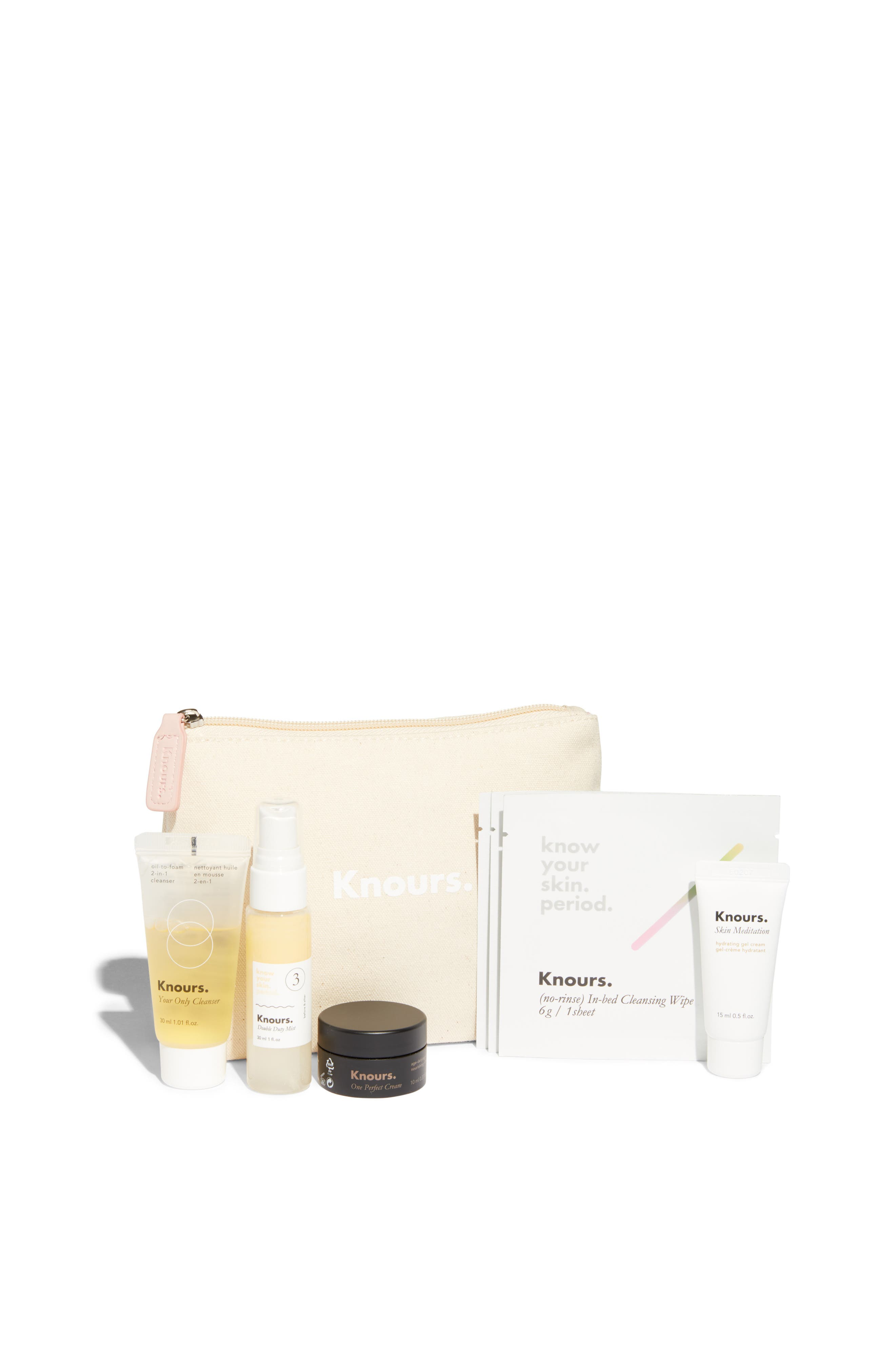 KNOURS,                             Know Your Skin. Period. Skin Care Starter Kit,                             Main thumbnail 1, color,                             650