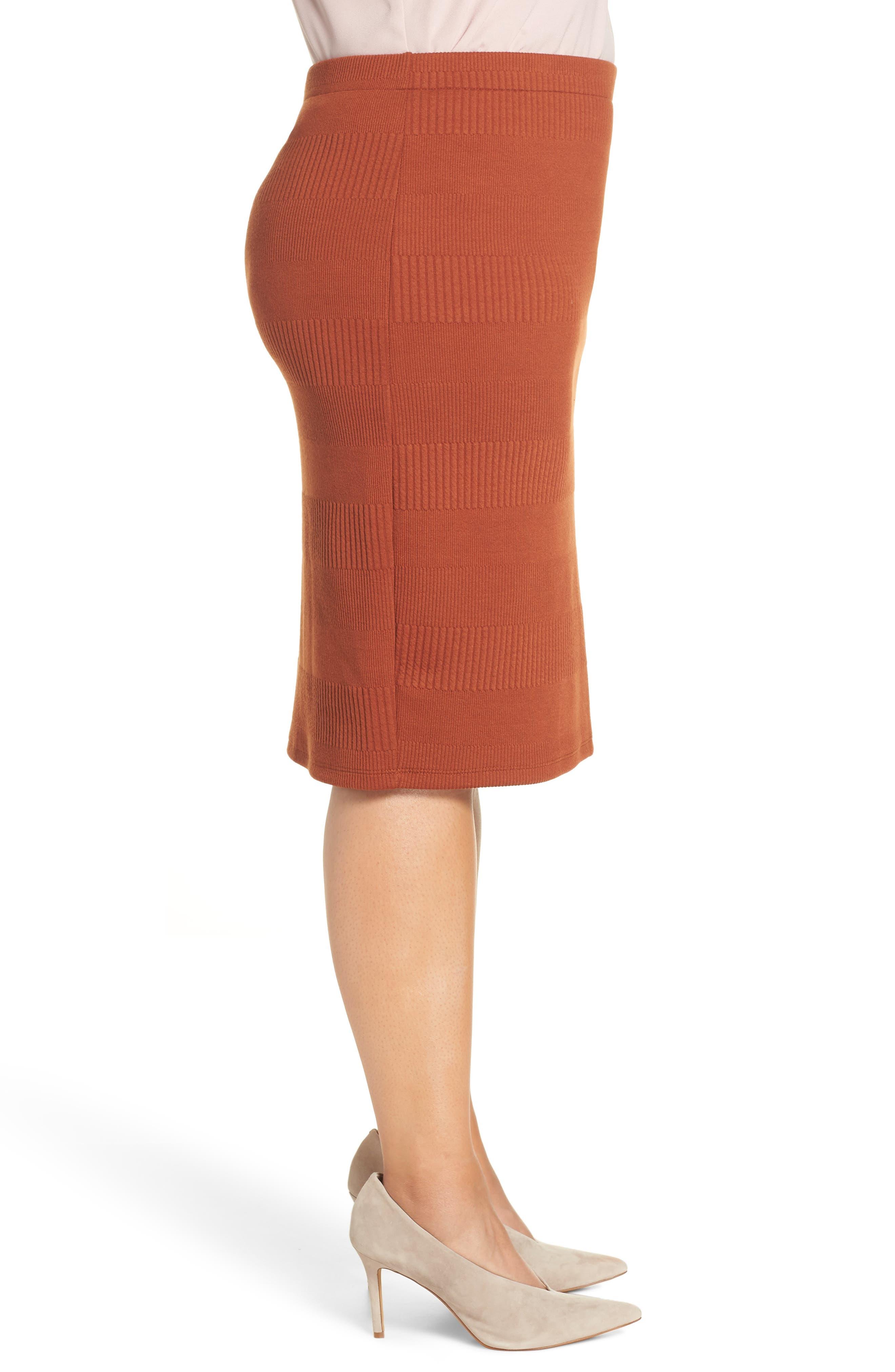 Midi Pencil Skirt,                             Alternate thumbnail 3, color,                             210