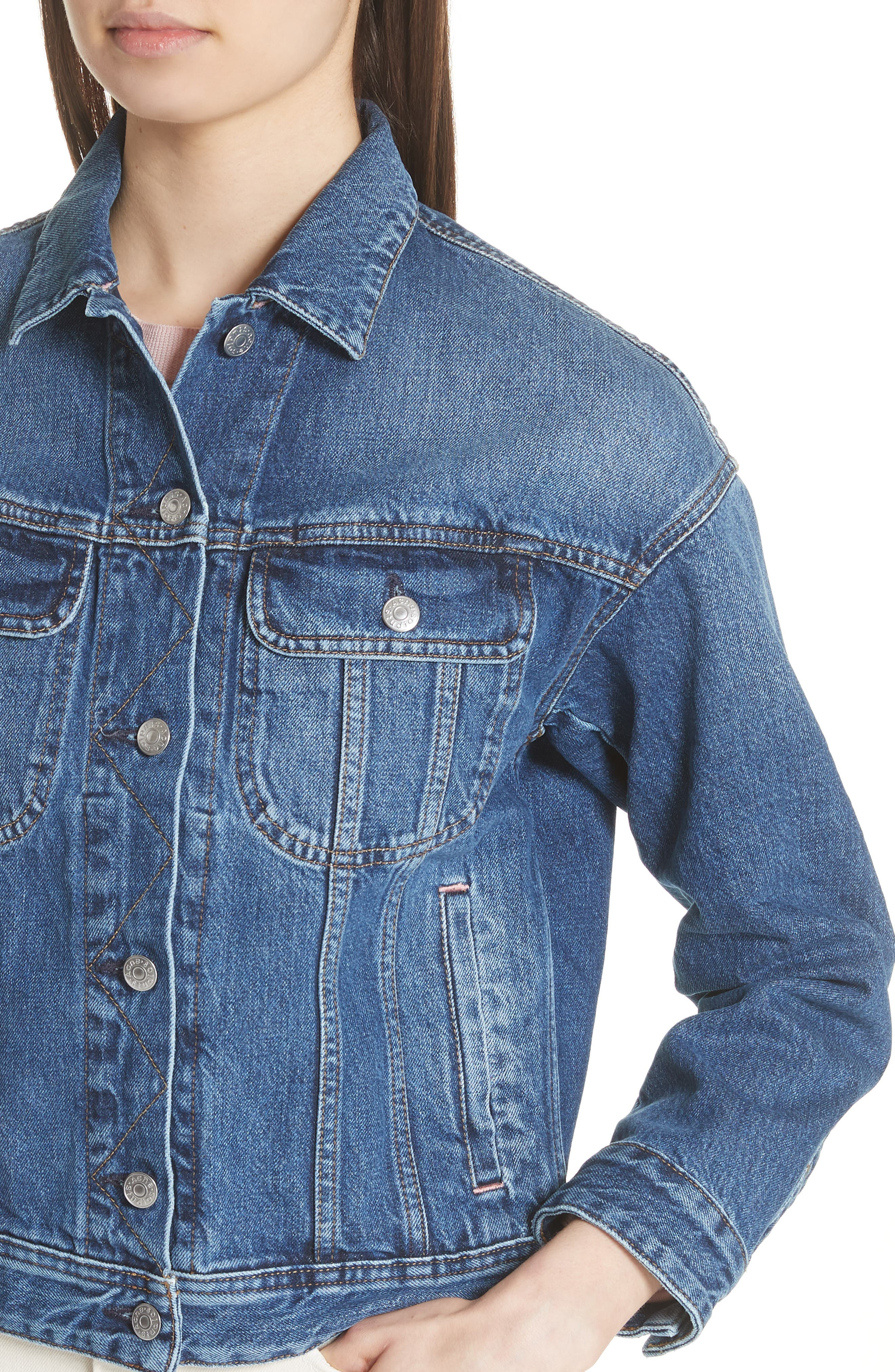 Lamp Denim Jacket,                             Alternate thumbnail 4, color,                             400