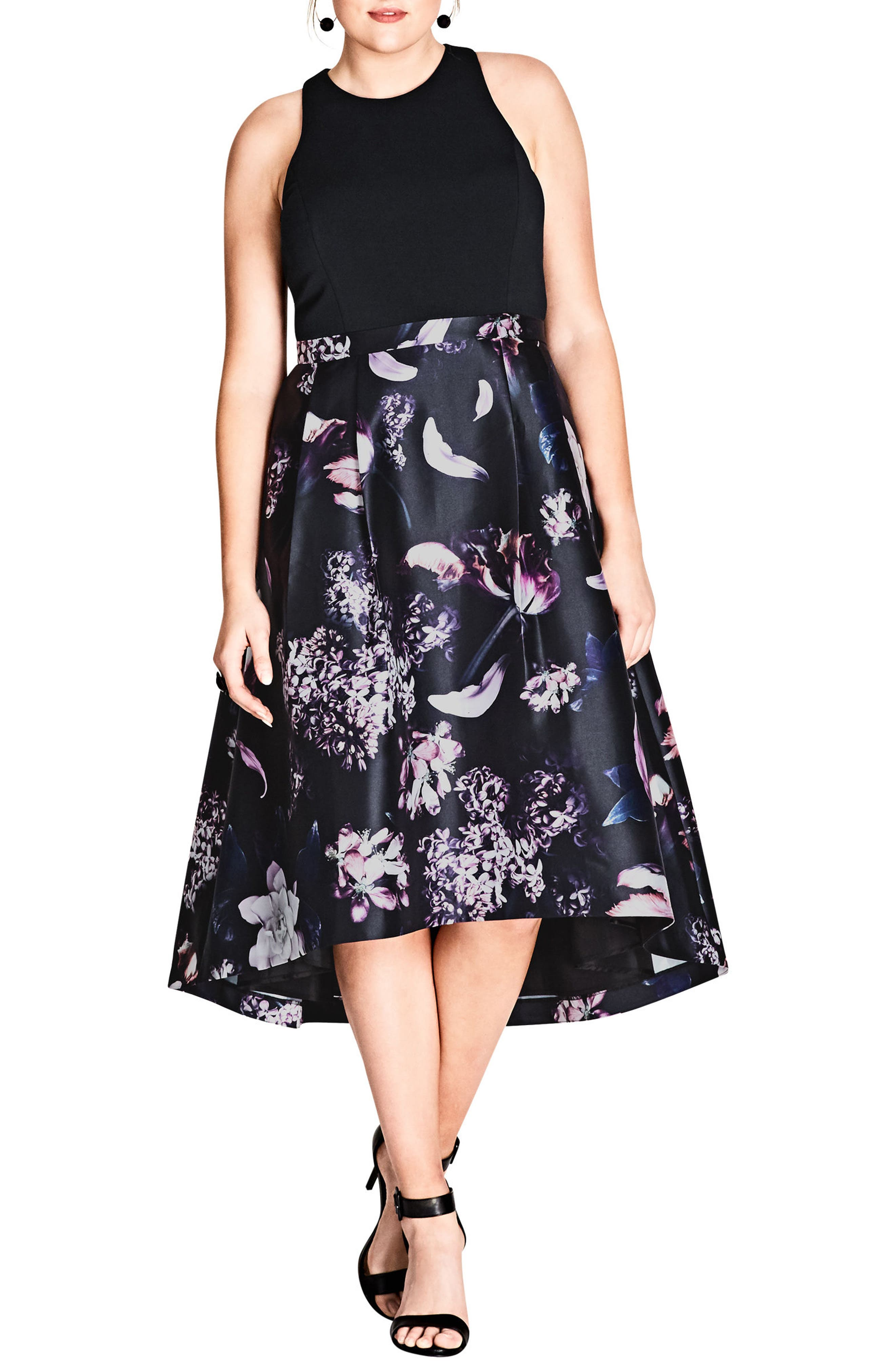 Romantic Night Dress,                         Main,                         color, DARK ROMANCE