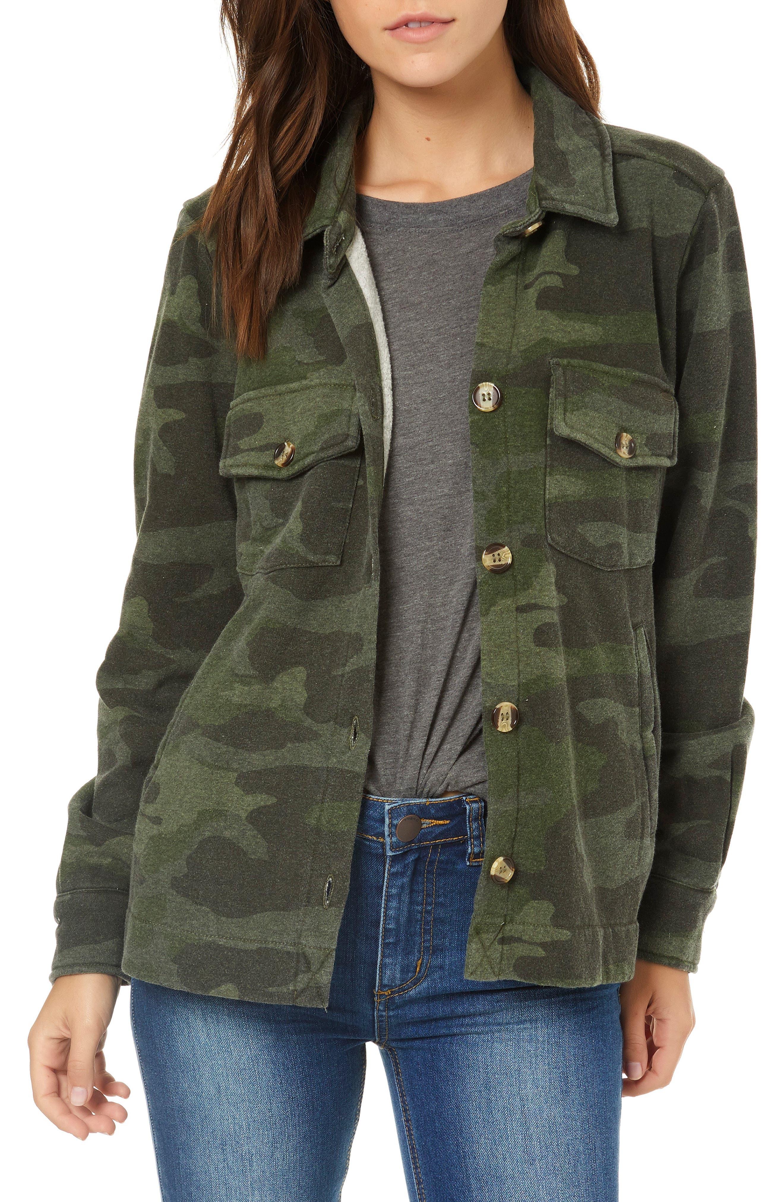 Skylar Camo Fleece Jacket,                             Main thumbnail 1, color,                             310