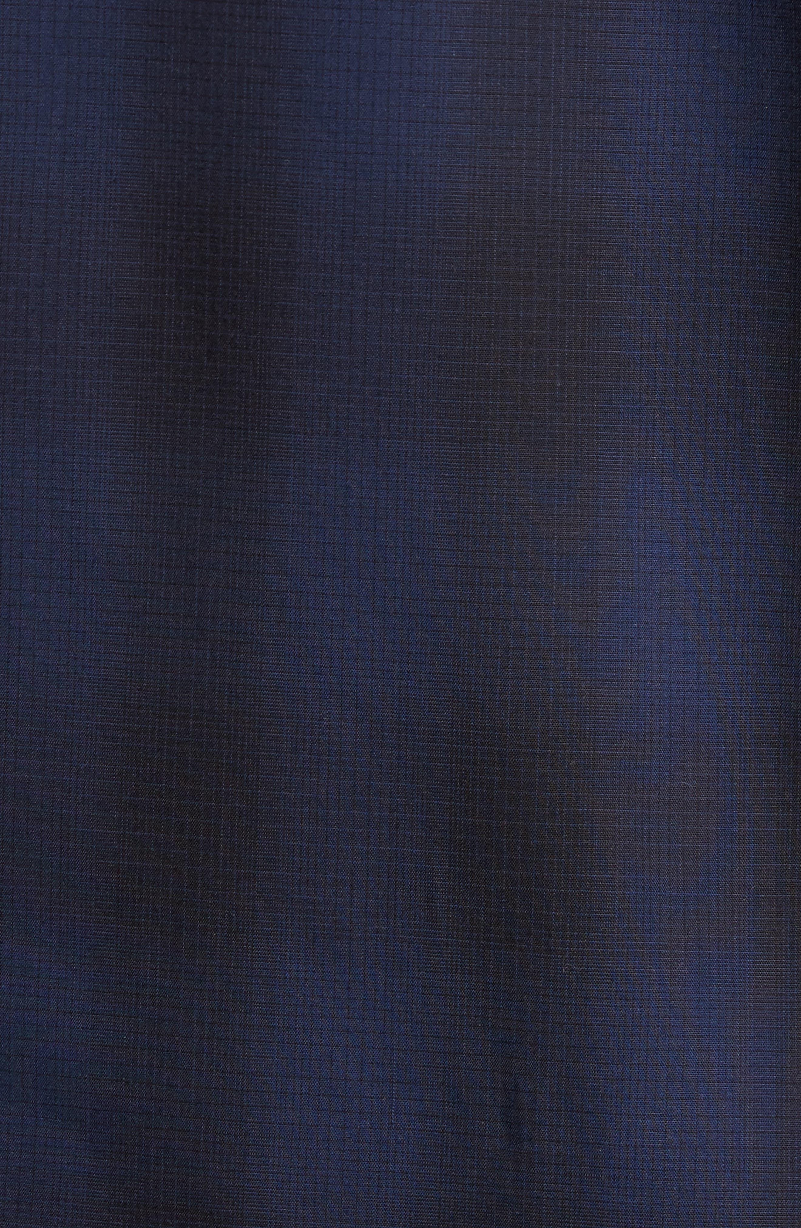 Trim Fit Plaid Sport Shirt,                             Alternate thumbnail 9, color,