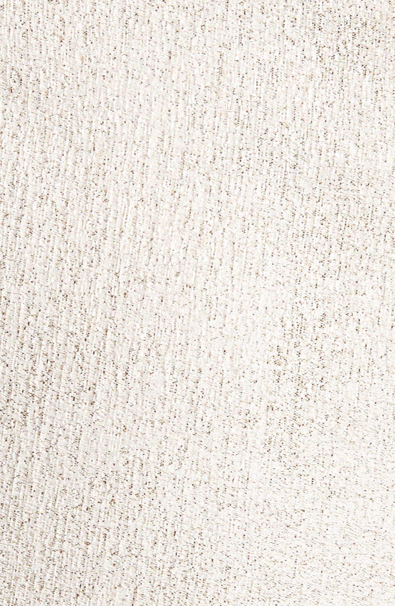Metallic Jacquard Crop Pants,                             Alternate thumbnail 6, color,                             900