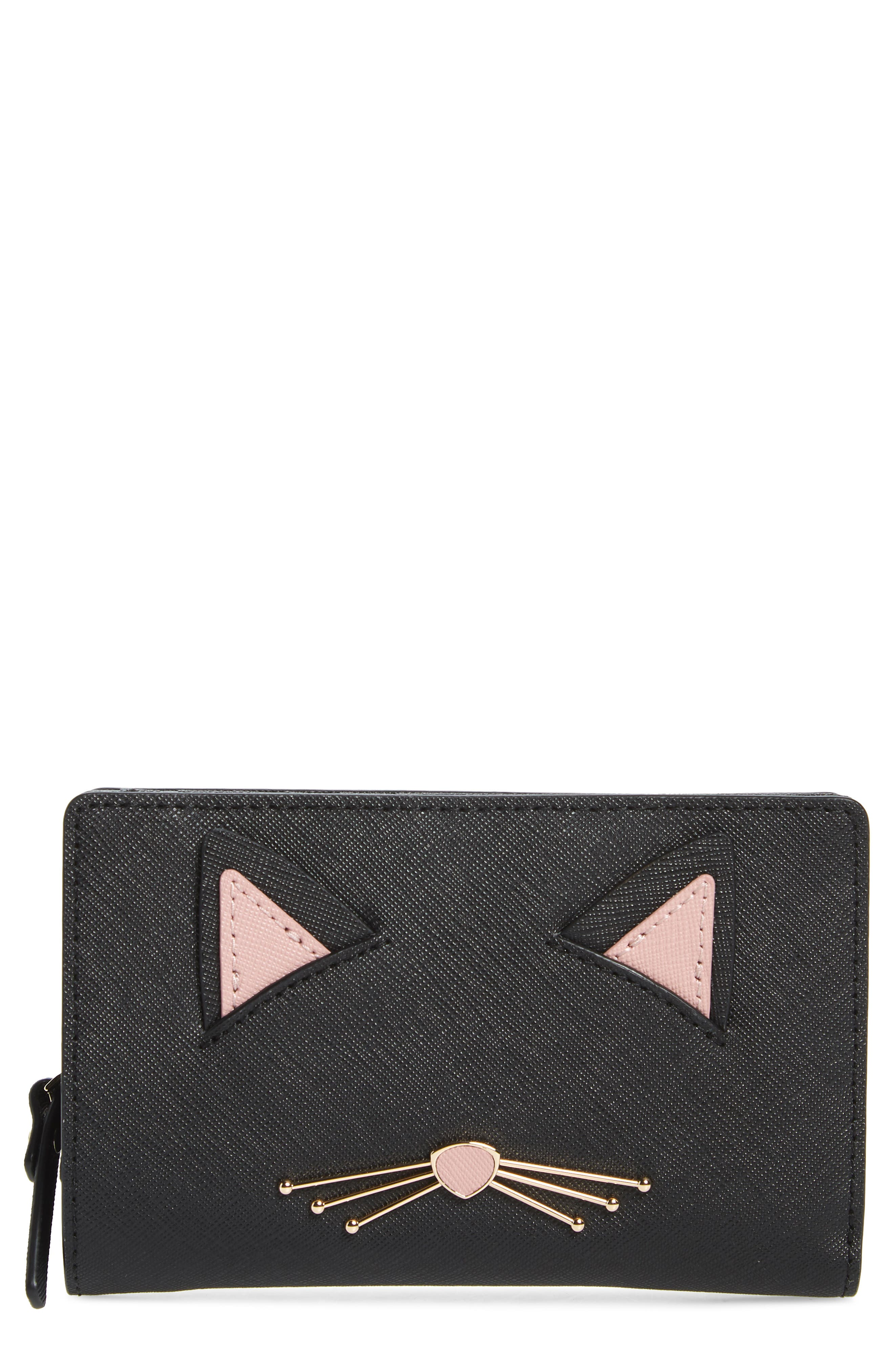 cats meow dara leather wallet, Main, color, 001