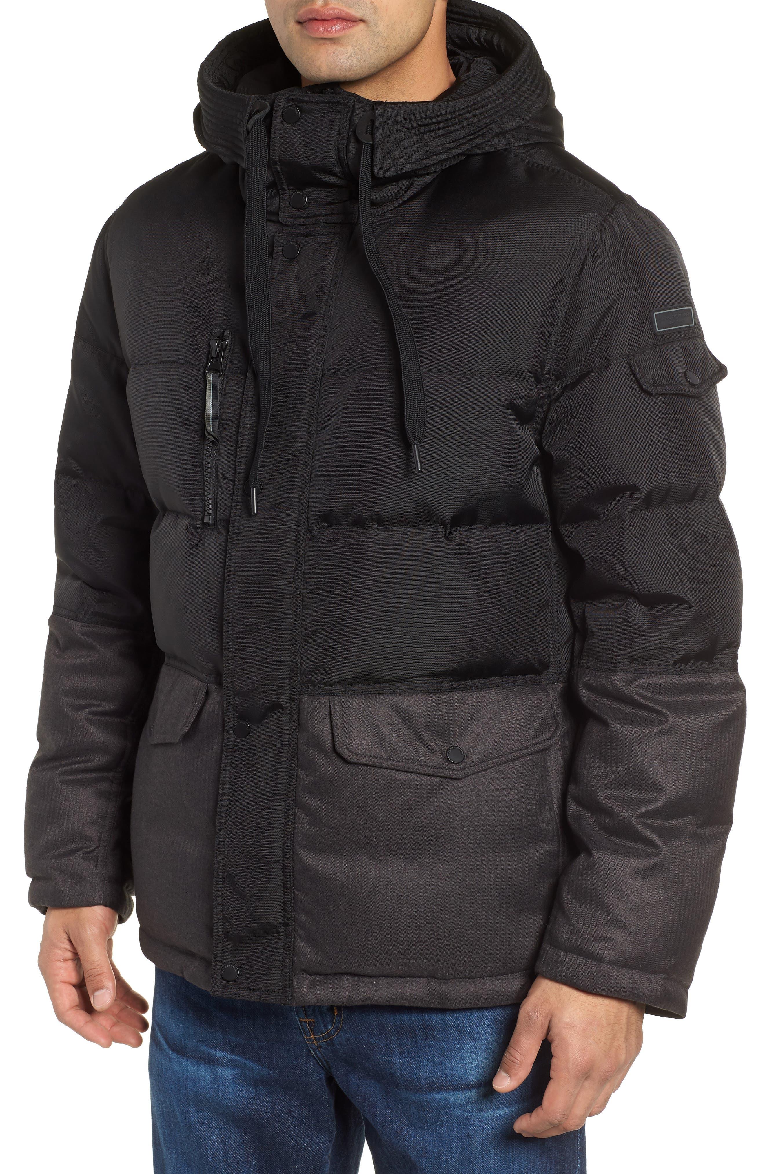MARC NEW YORK,                             Stanton Oxford Puffer Jacket,                             Alternate thumbnail 5, color,                             BLACK