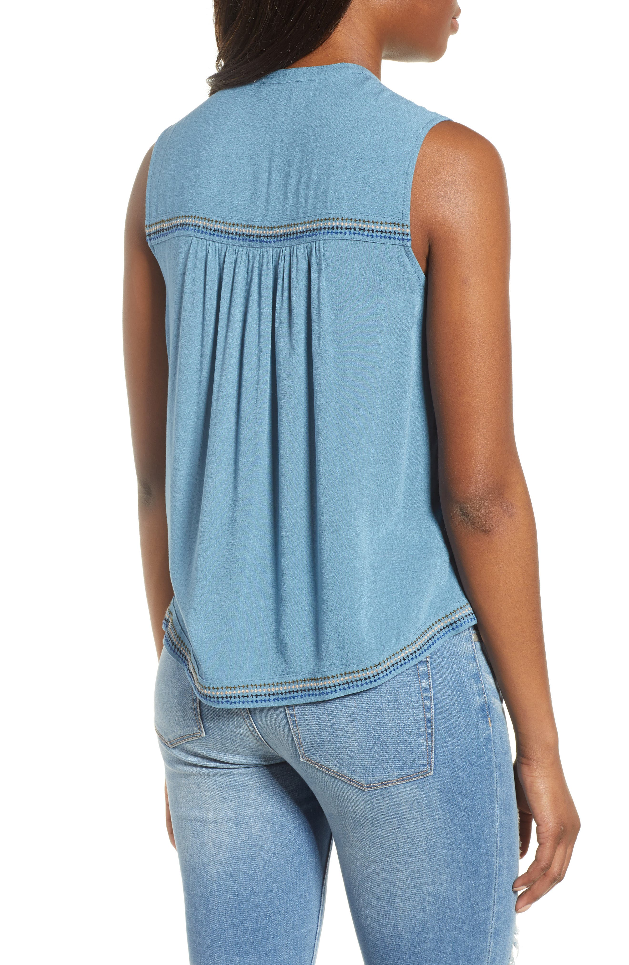 Lucky Embroidered Tank Top,                             Alternate thumbnail 2, color,                             450