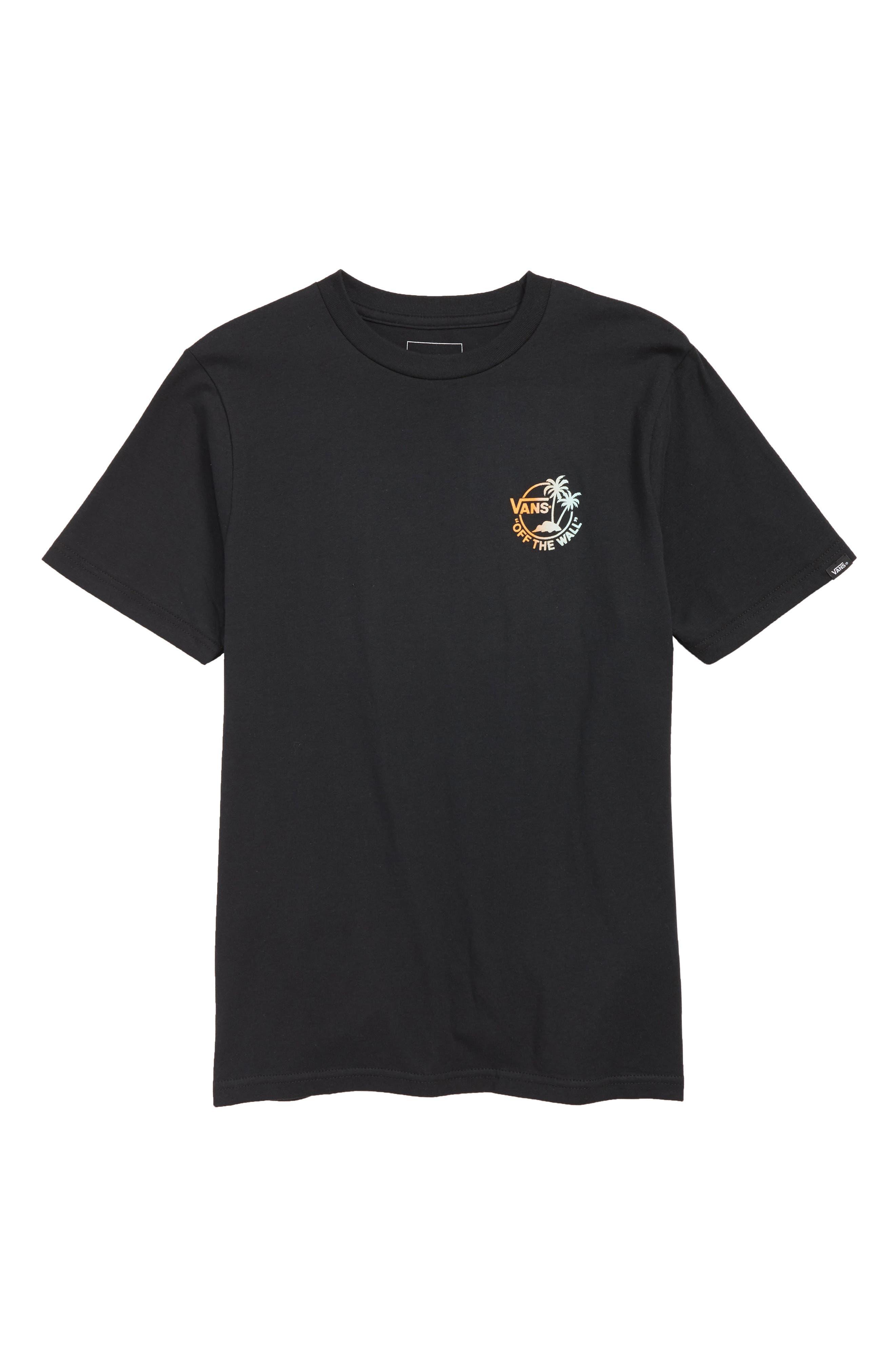 Mini Dual Palm III T-Shirt, Main, color, BLACK/ GRADIENT