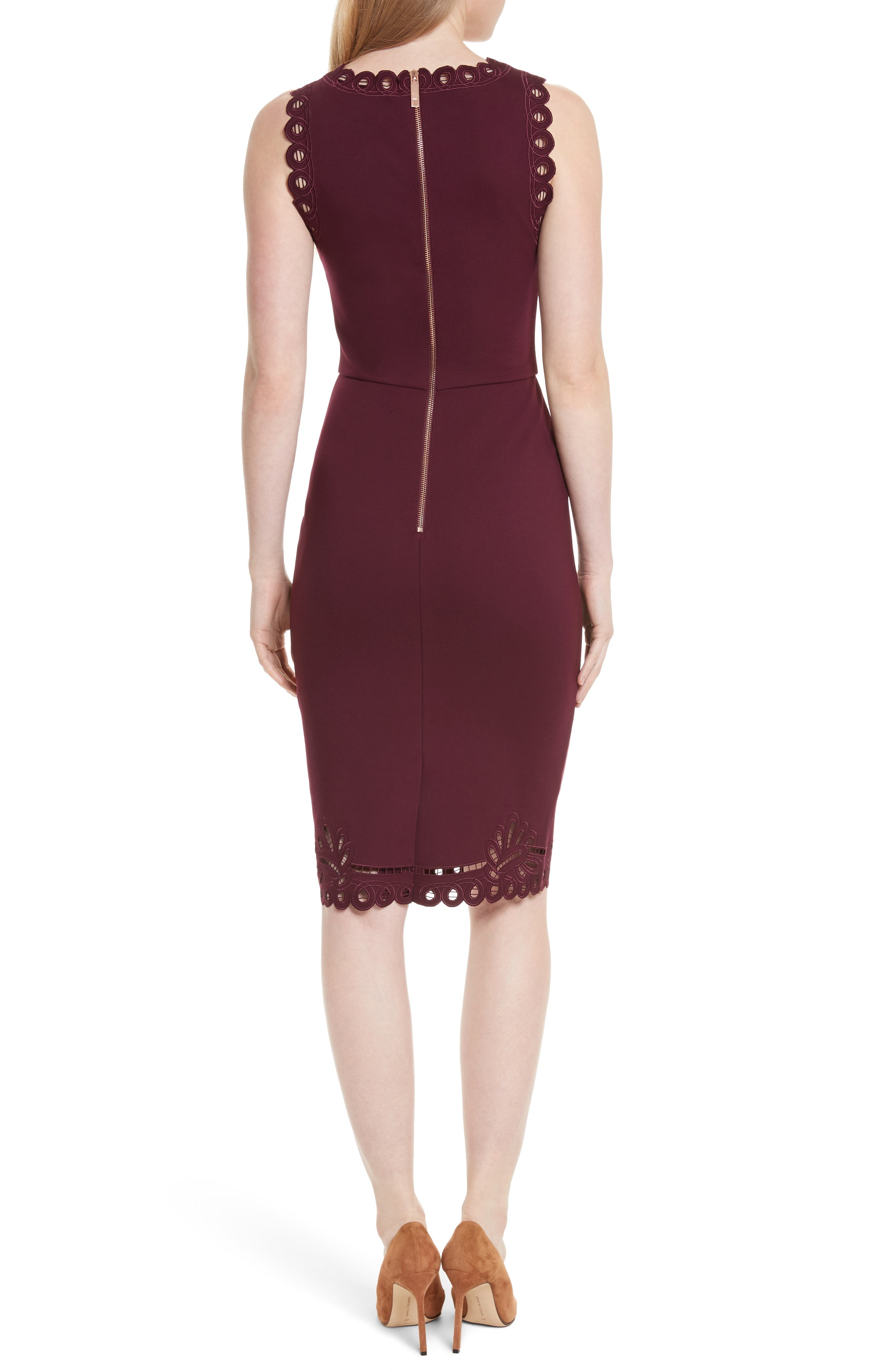 Verita Cutout Yoke Sheath Dress,                             Alternate thumbnail 2, color,                             930