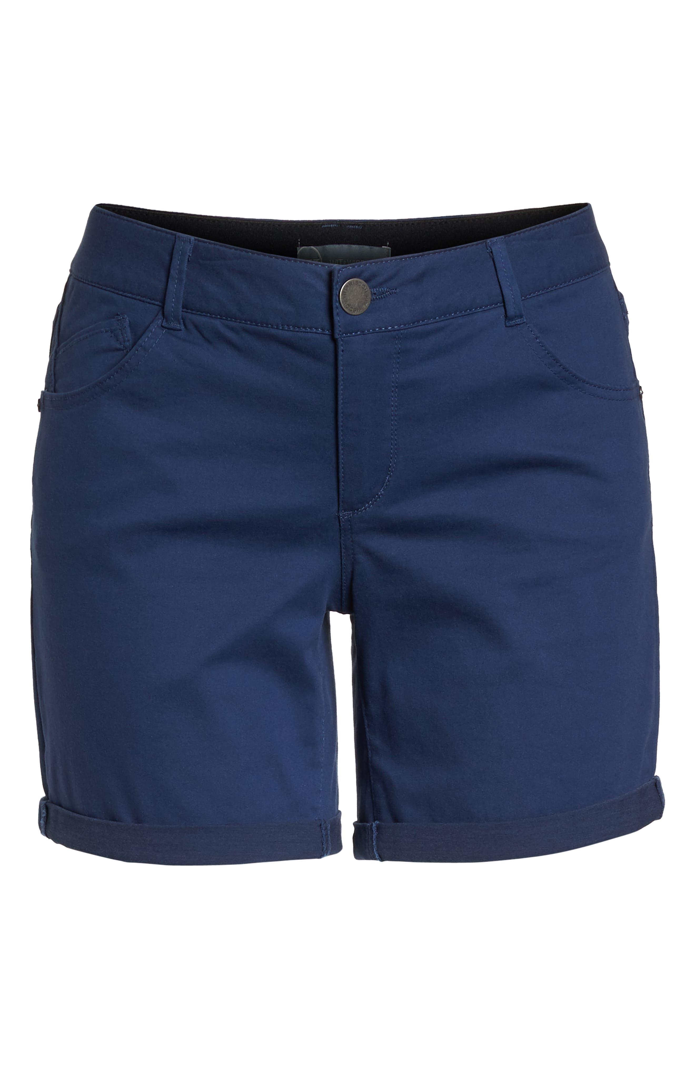 Ab-Solution Stretch Cotton Shorts,                             Alternate thumbnail 7, color,                             COASTAL BLUE