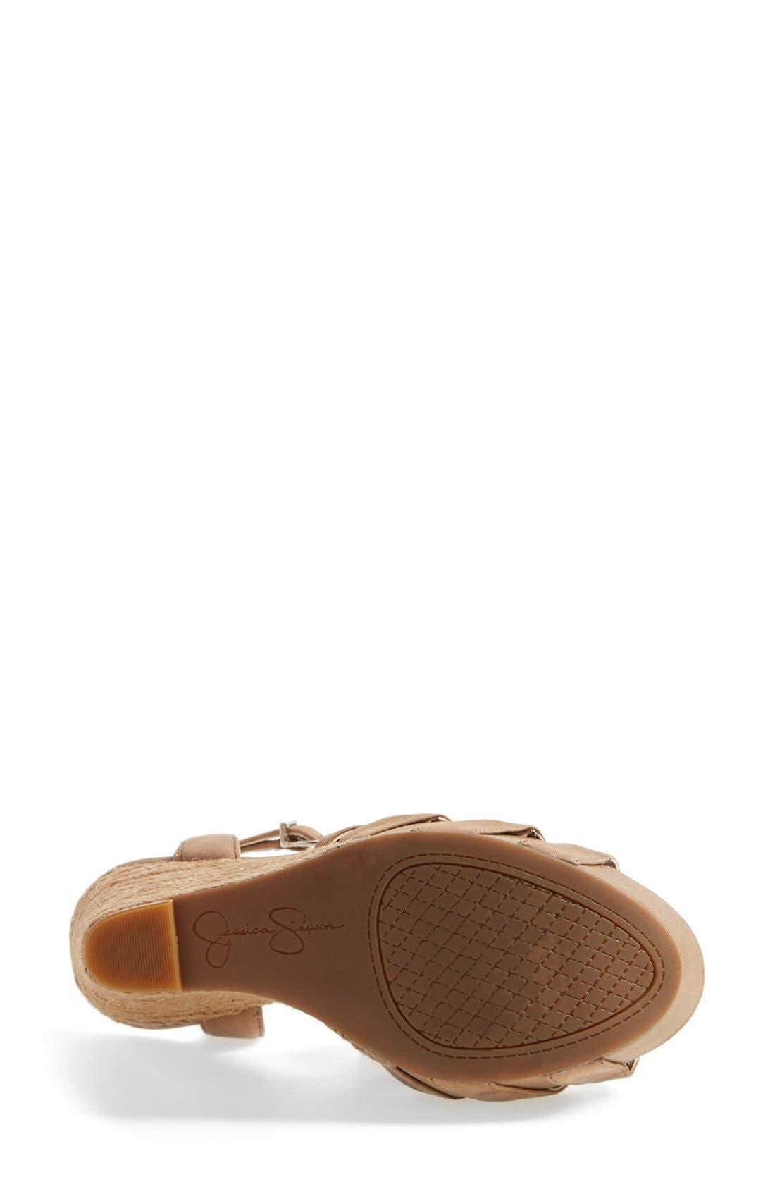 'Bristol' Ankle Strap Platform Wedge Sandal,                             Alternate thumbnail 3, color,                             250