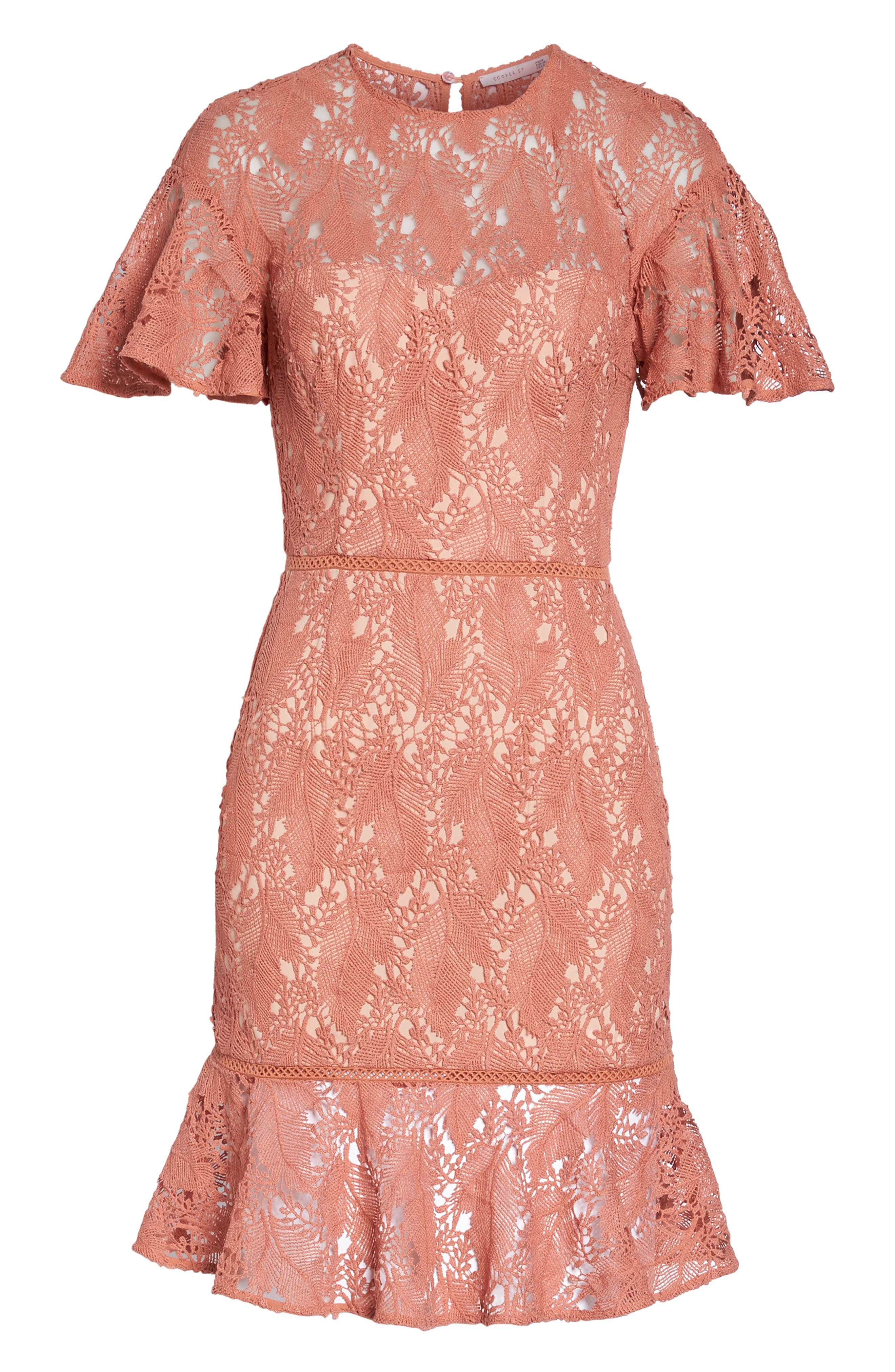 Monaco Flounce Hem Dress,                             Alternate thumbnail 6, color,                             680