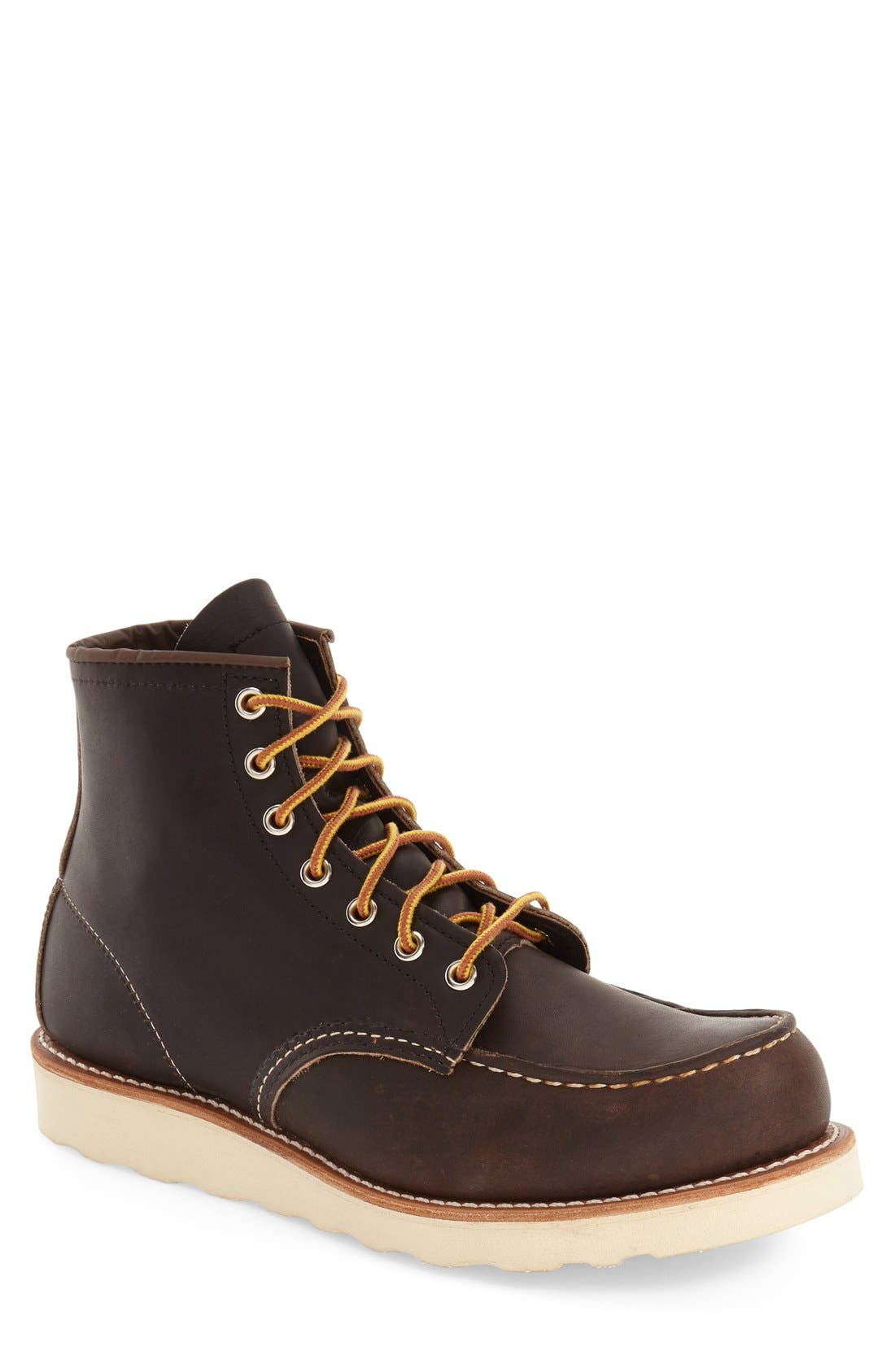 6 Inch Moc Toe Boot,                         Main,                         color, 200